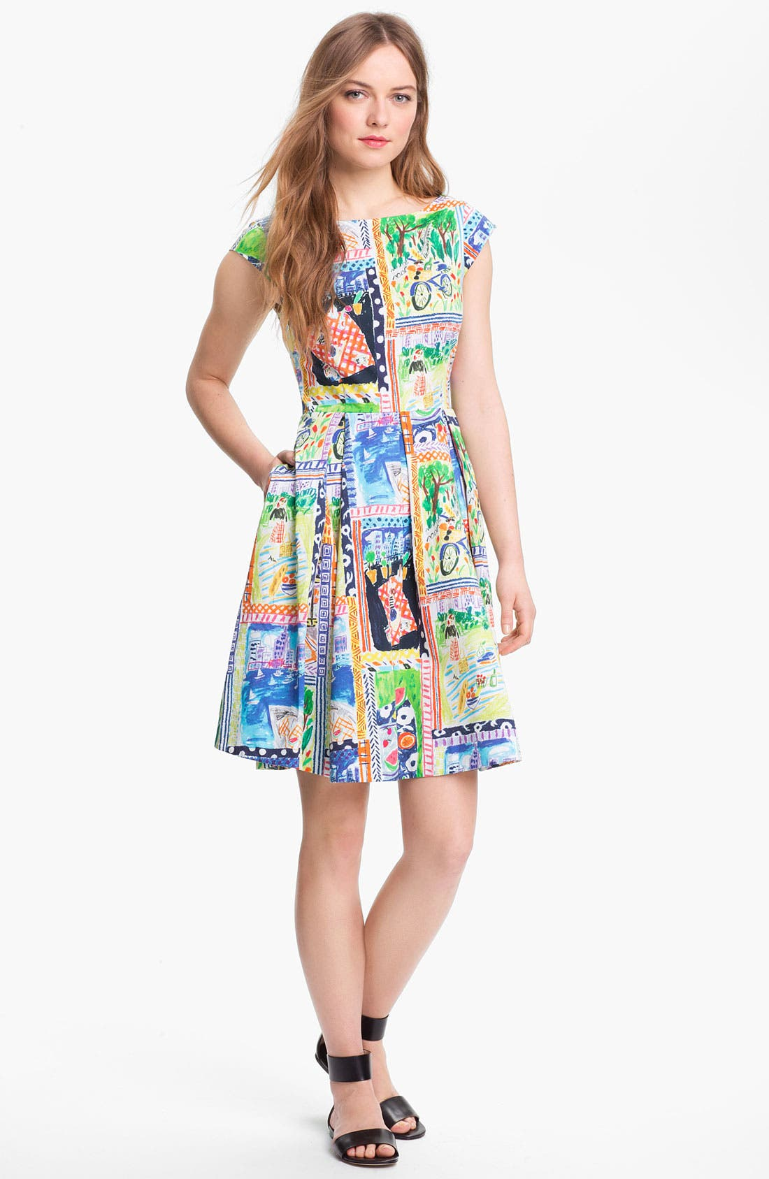 Alternate Image 1 Selected - kate spade new york 'mariella' stretch cotton fit & flare dress