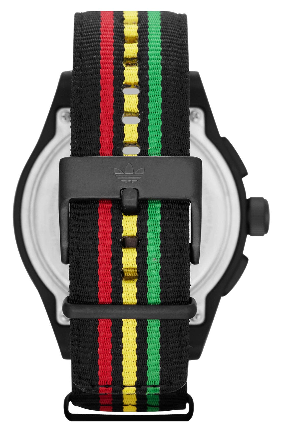 Alternate Image 3  - adidas Originals 'Newburgh' Nylon Strap Watch, 48mm