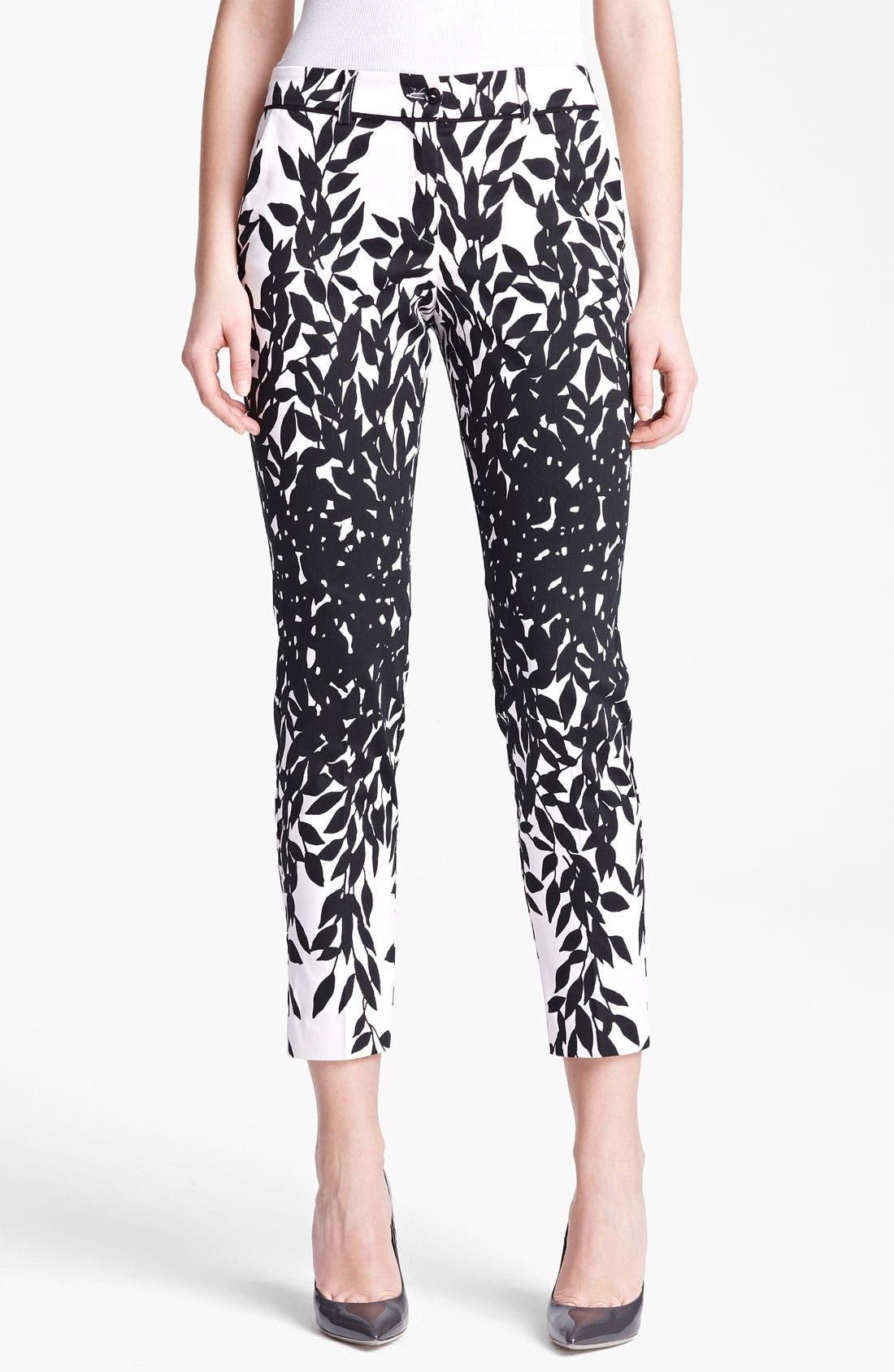 Alternate Image 1 Selected - Blumarine Print Stretch Cotton Capri Pants