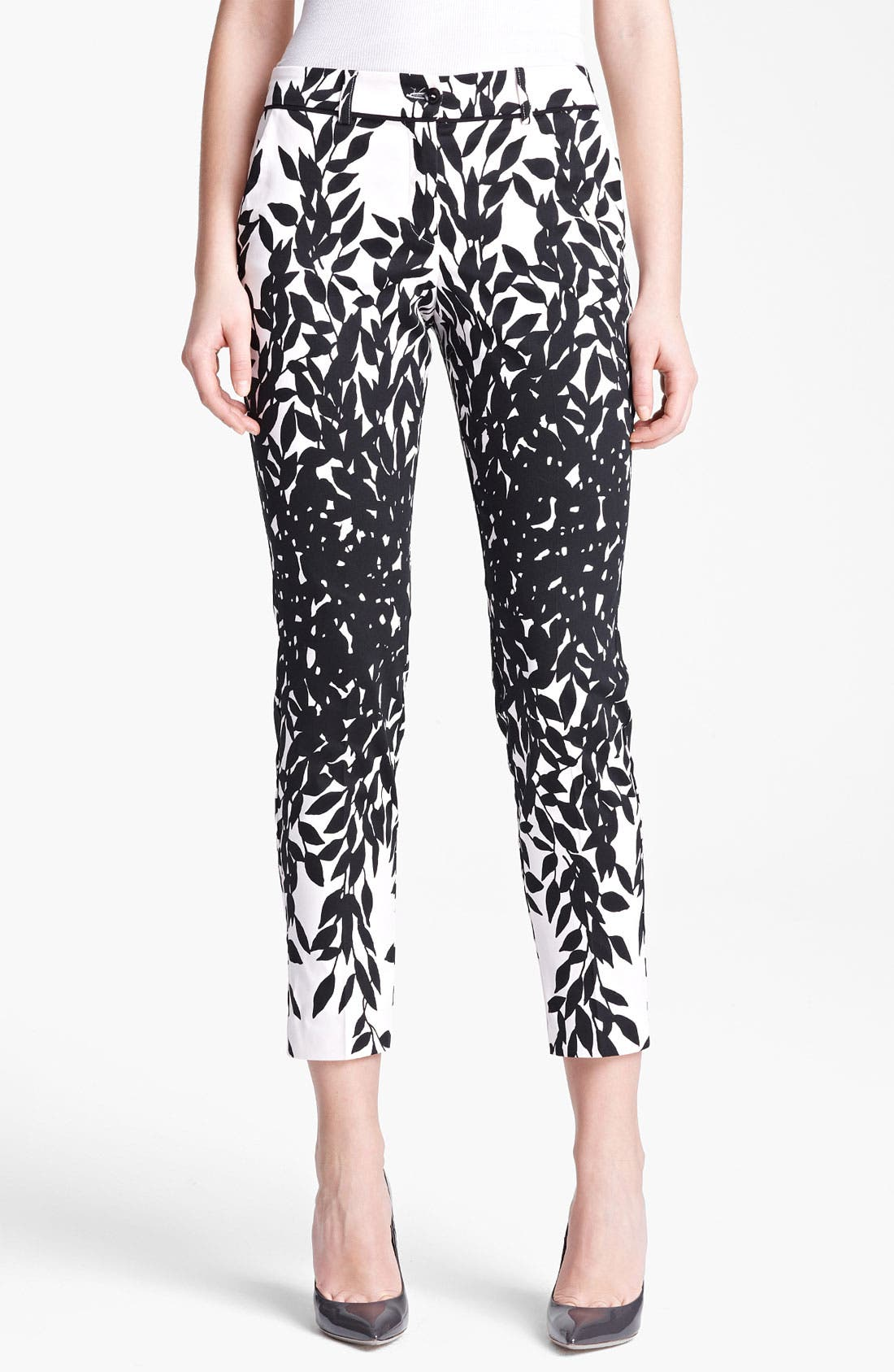 Main Image - Blumarine Print Stretch Cotton Capri Pants