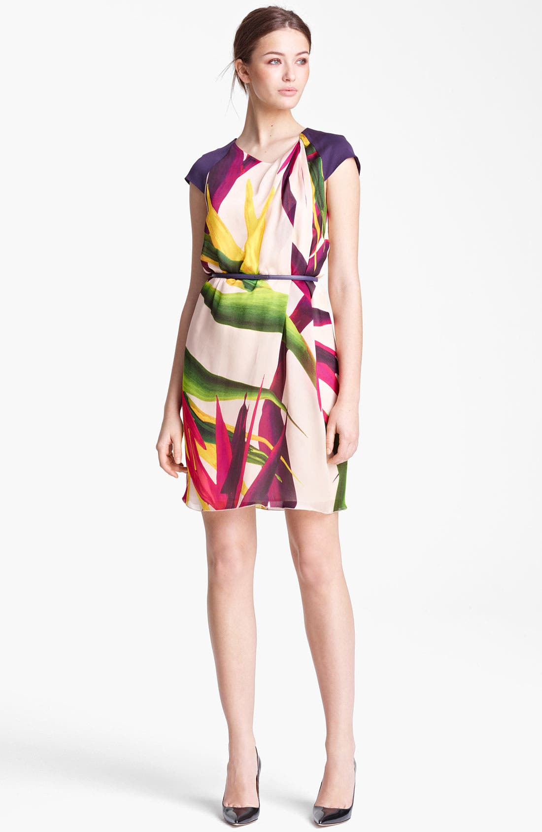 Alternate Image 1 Selected - Max Mara 'Harry' Floral Print Silk Dress
