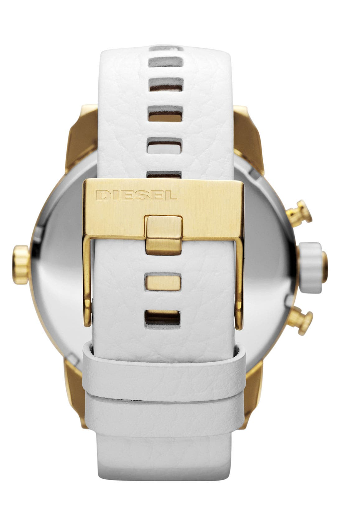Alternate Image 3  - DIESEL® 'Little Daddy' Large Leather Strap Watch, 51mm