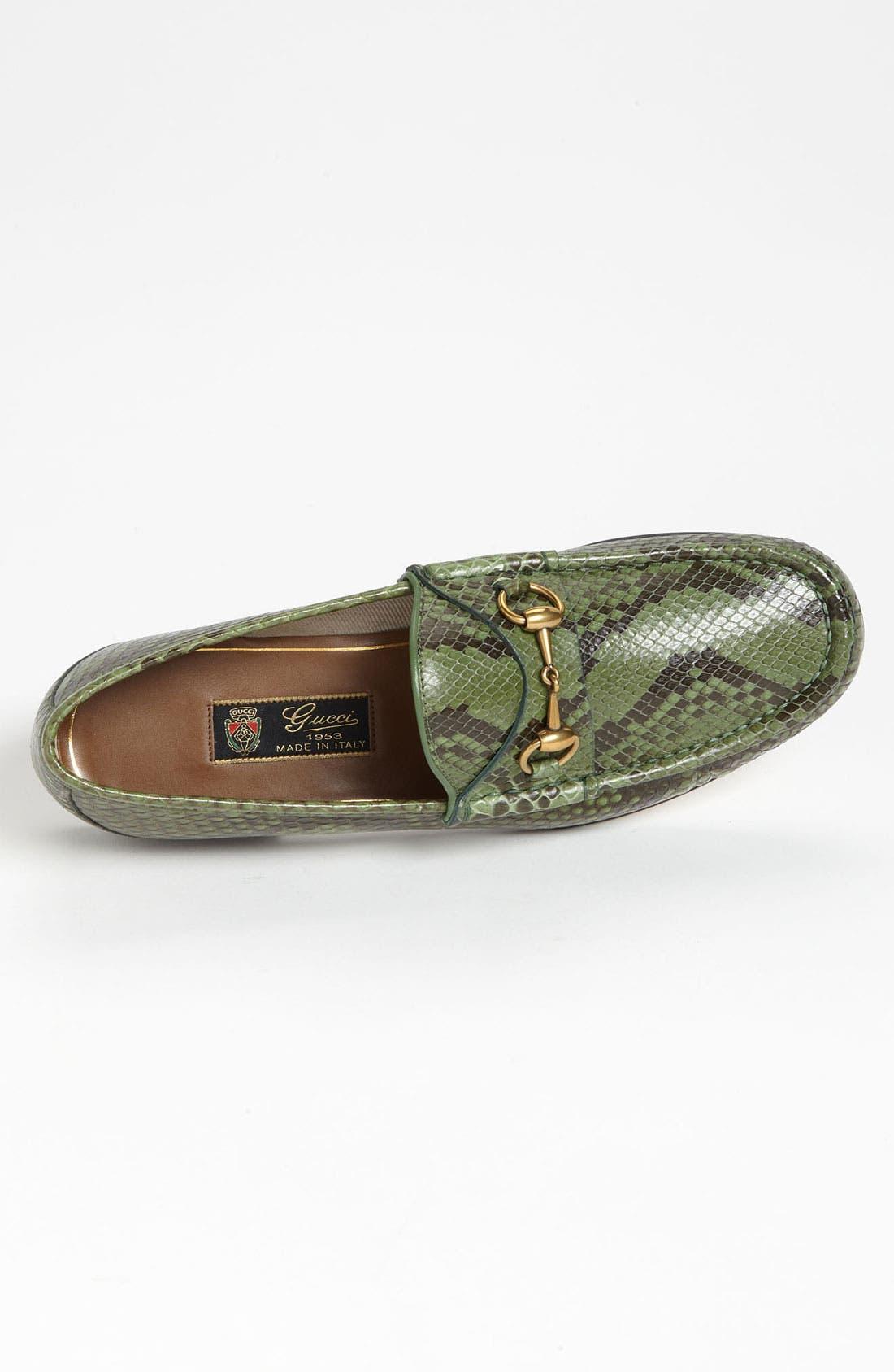 Alternate Image 3  - Gucci 'Roos' Python Bit Loafer