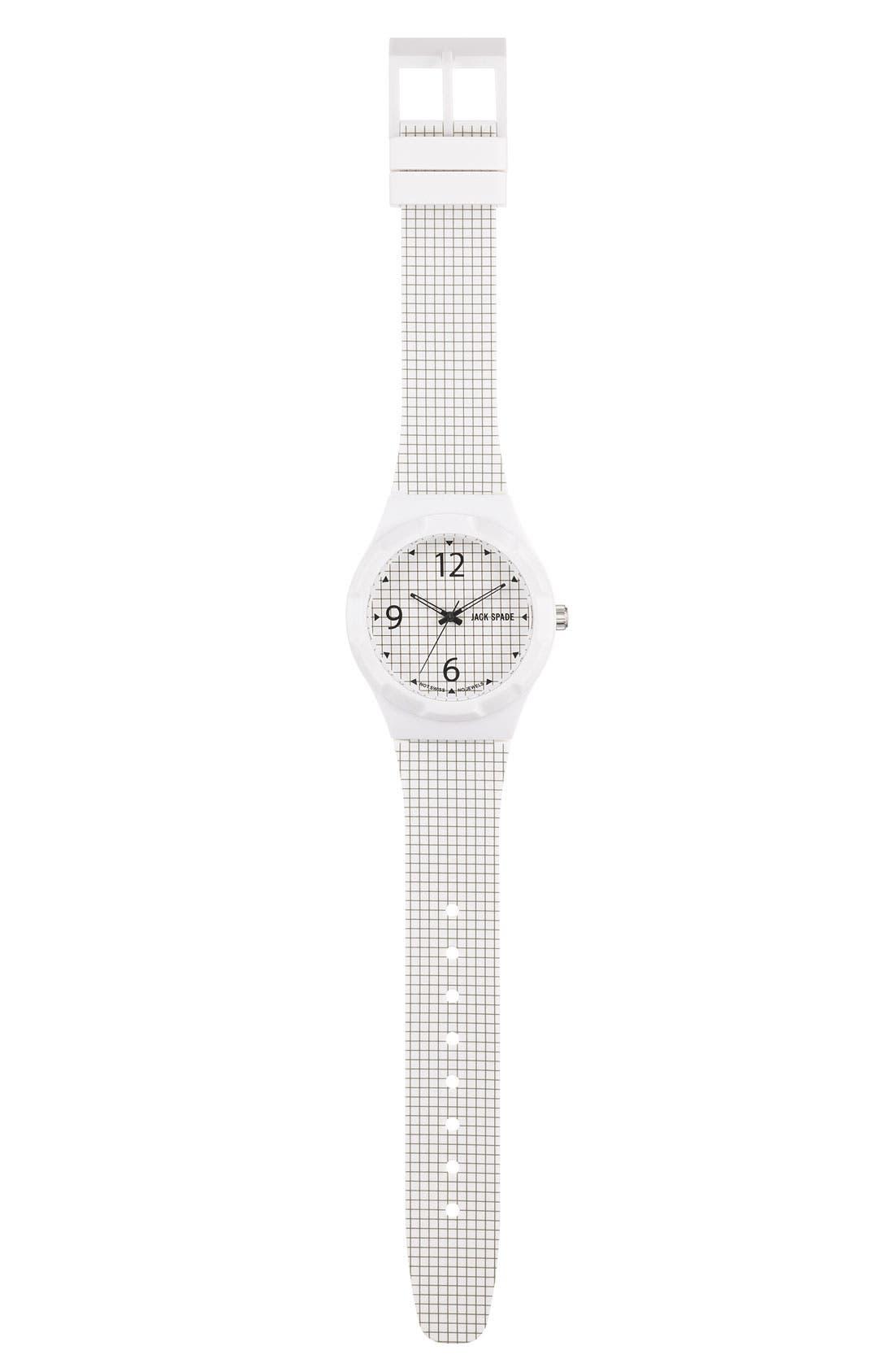 Alternate Image 2  - Jack Spade 'Graphic - Check' Watch, 40mm