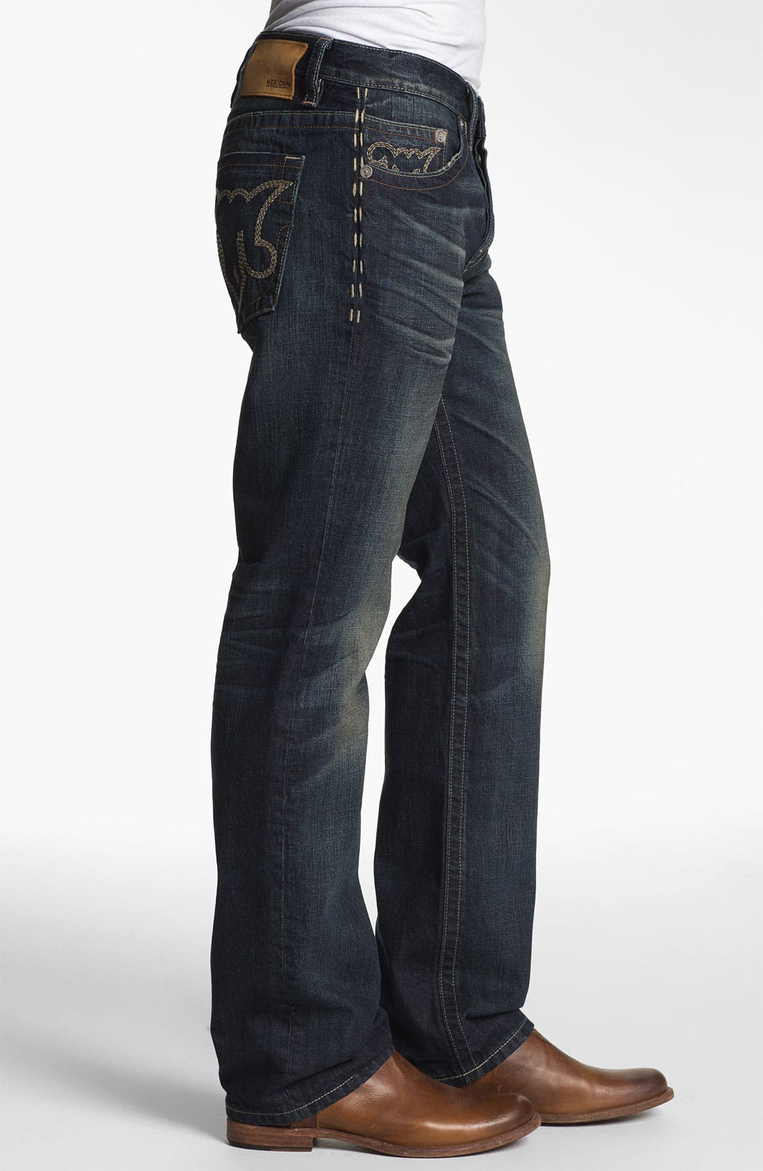Alternate Image 3  - MEK Denim 'Calix' Straight Leg Jeans (Hash)