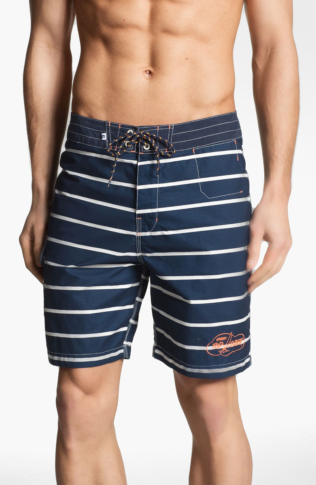 Main Image - Sperry Top-Sider® Sailor Stripe Board Shorts