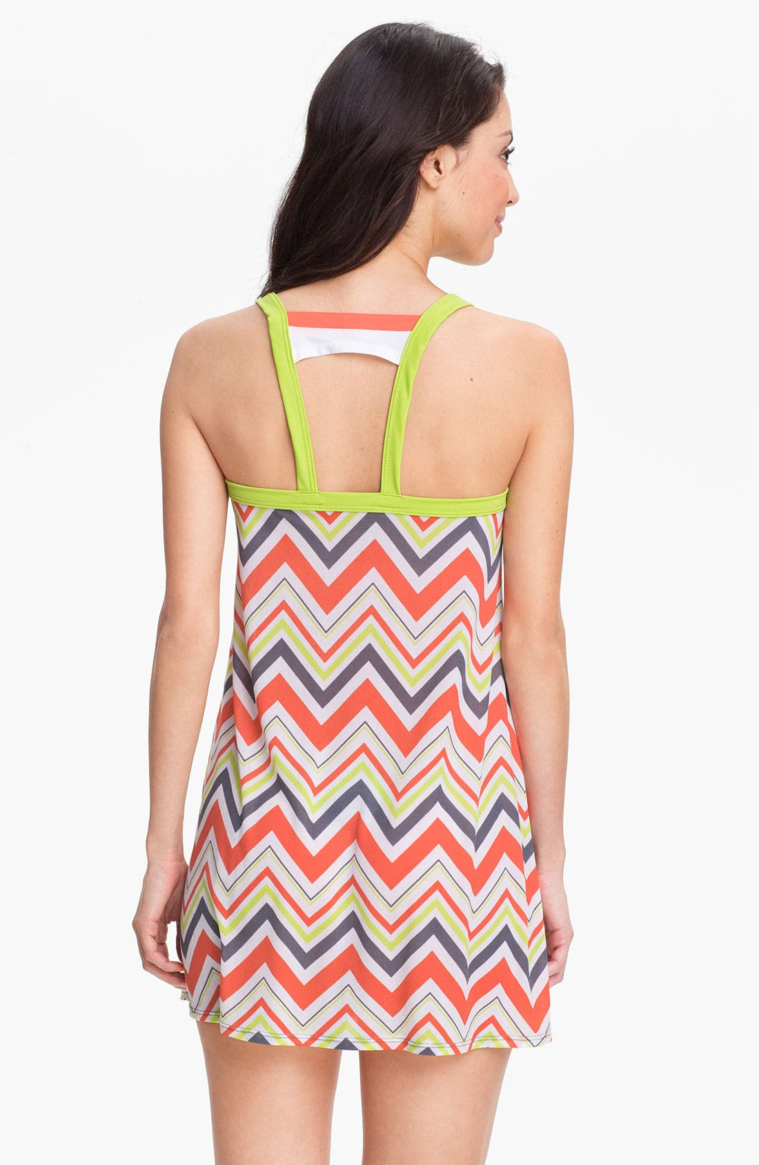 Alternate Image 2  - BCA Chevron Stripe Cover-Up Dress