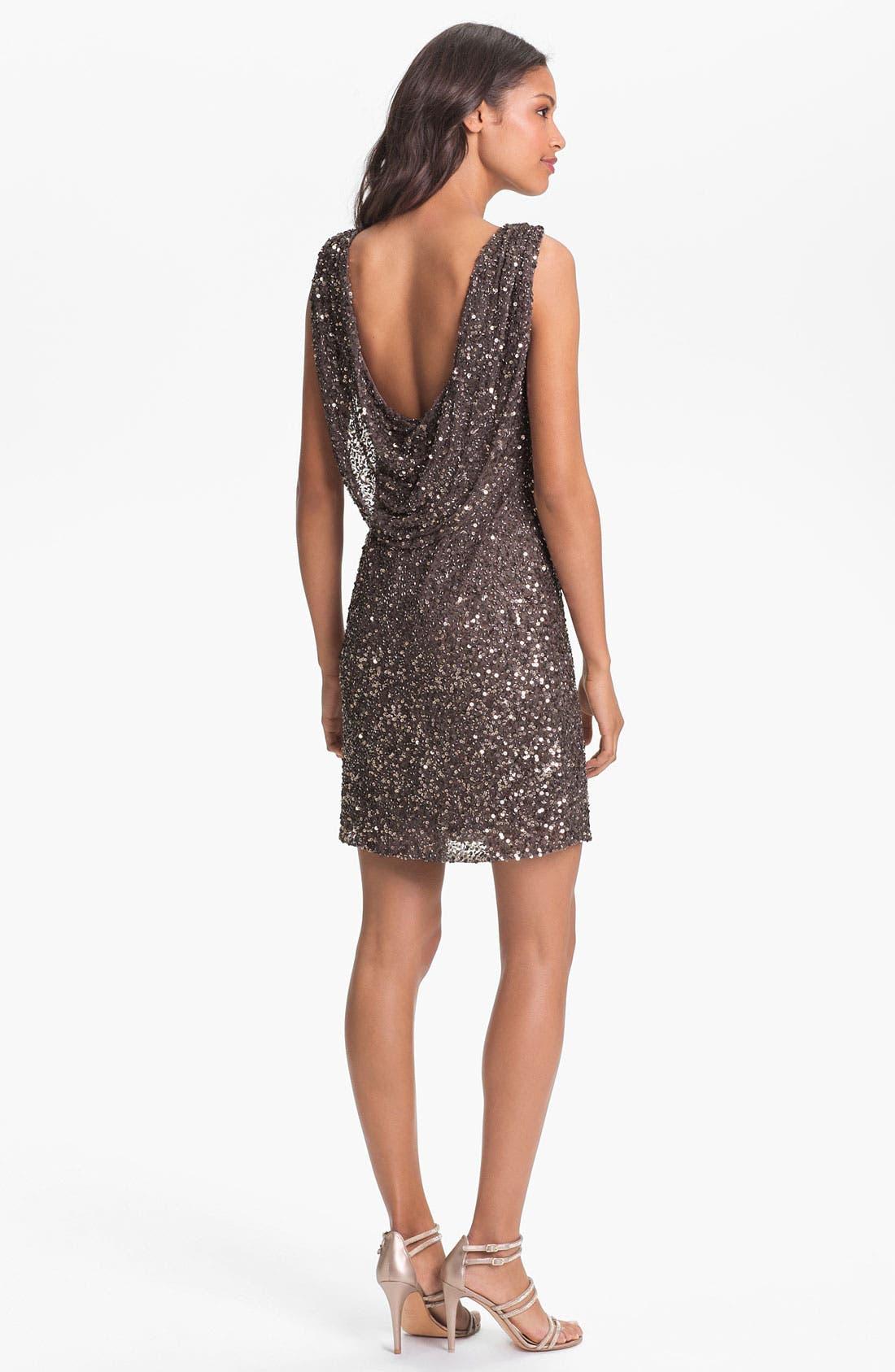 Alternate Image 2  - Pisarro Nights Drape Back Sequin Dress
