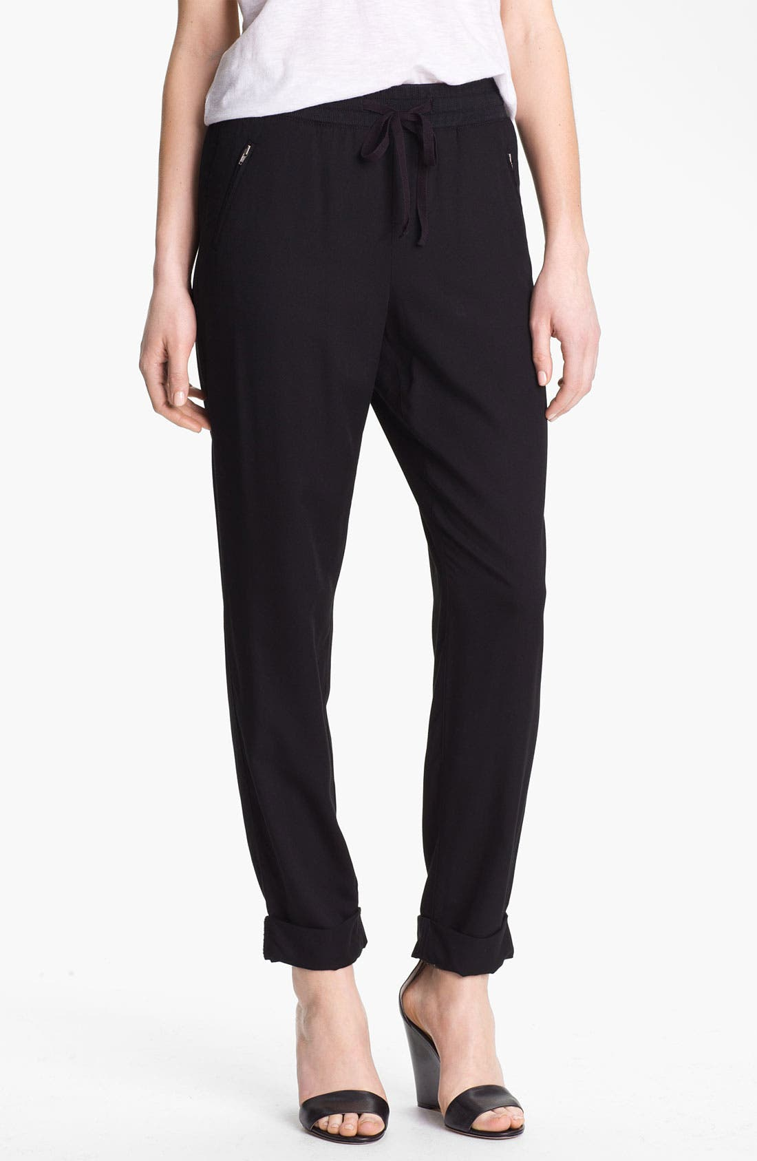 Alternate Image 1 Selected - Caslon Drawstring Twill Pants