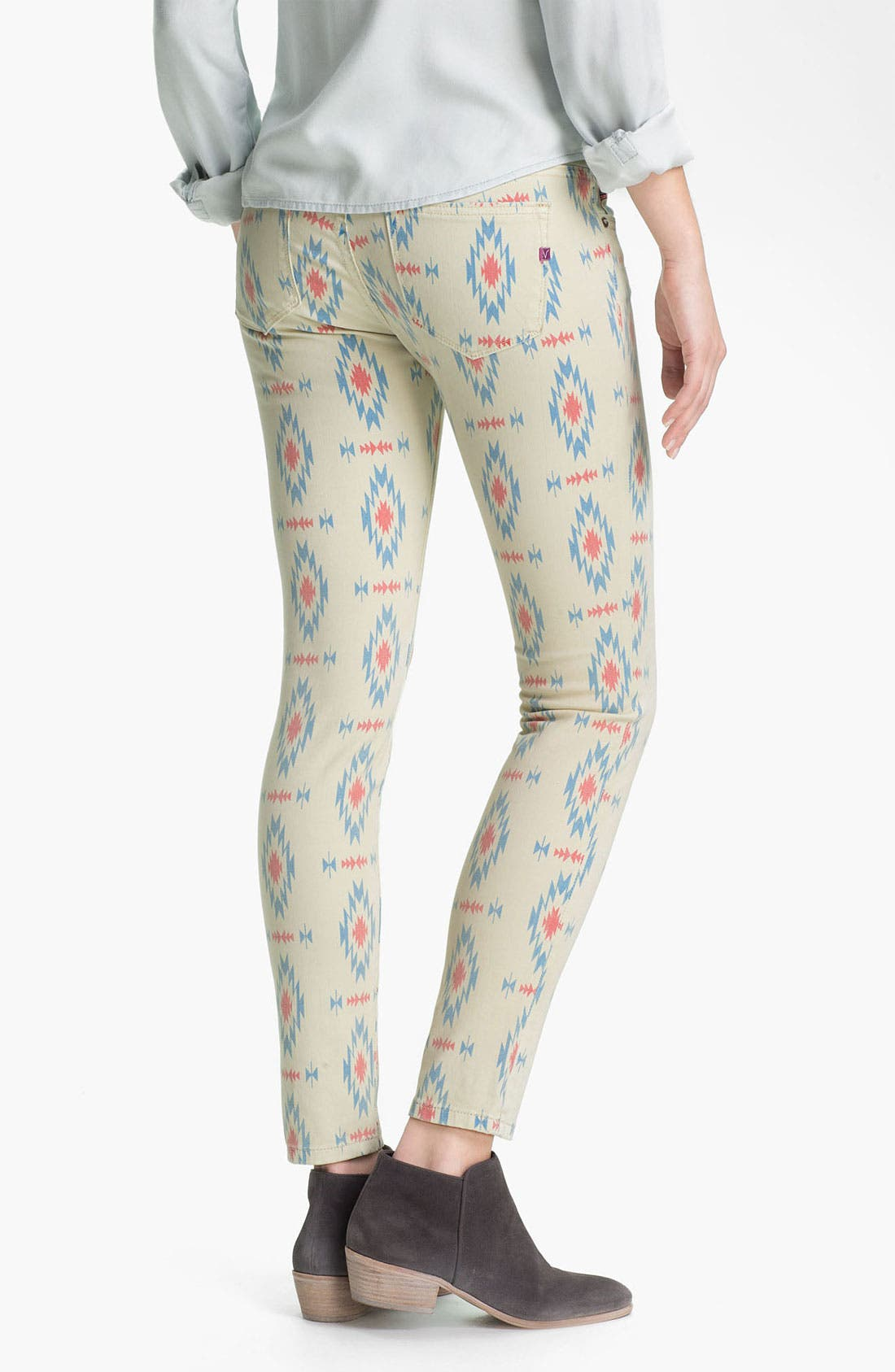 Alternate Image 1 Selected - Vigoss Print Skinny Jeans (Juniors)
