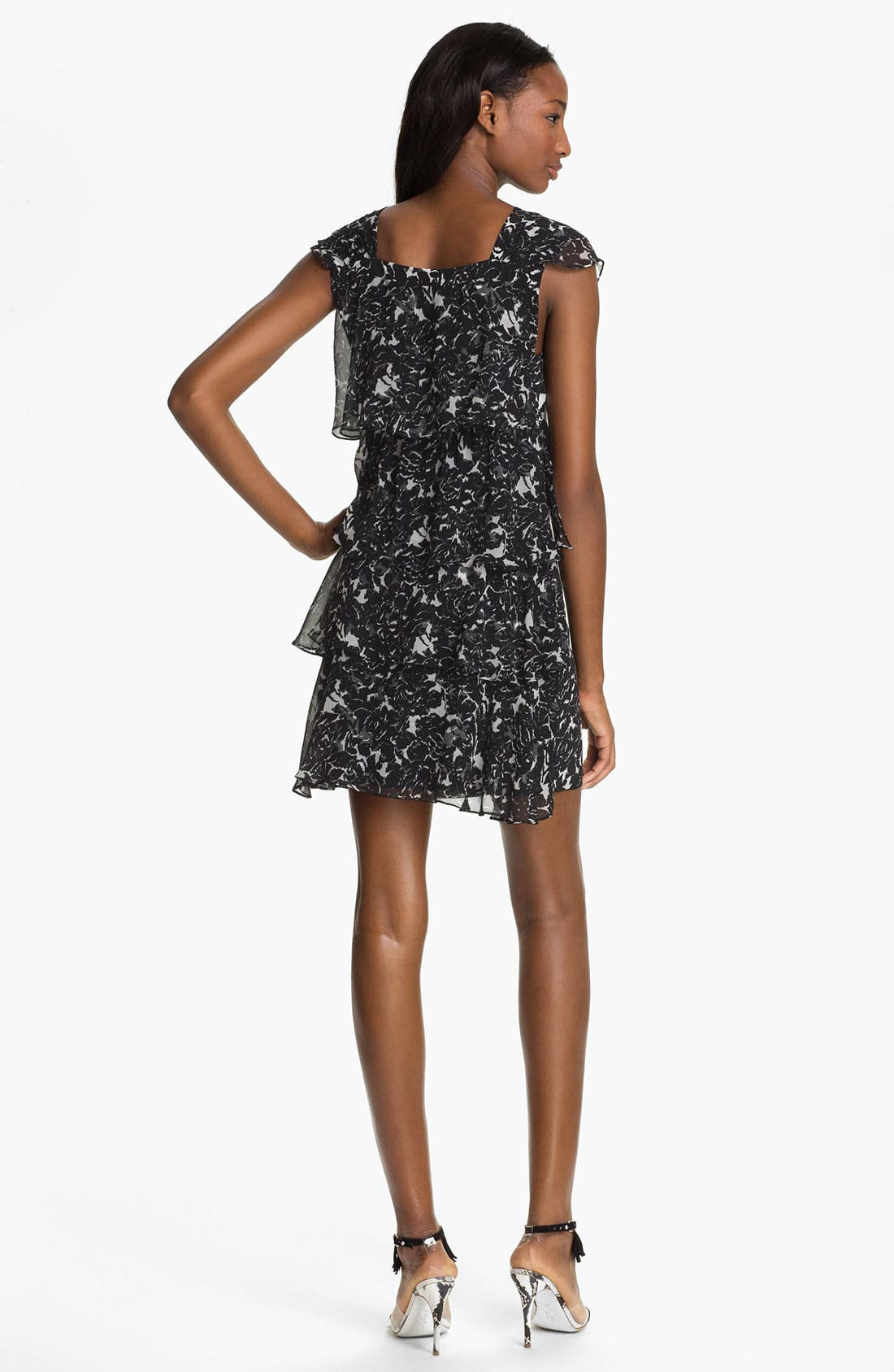 Alternate Image 2  - Tracy Reese Georgette & Crepe Shift Dress