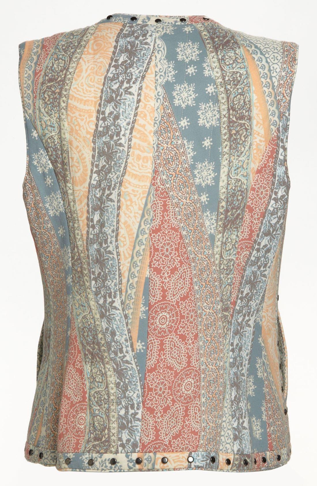 Alternate Image 3  - Mural Flowing Floral Vest