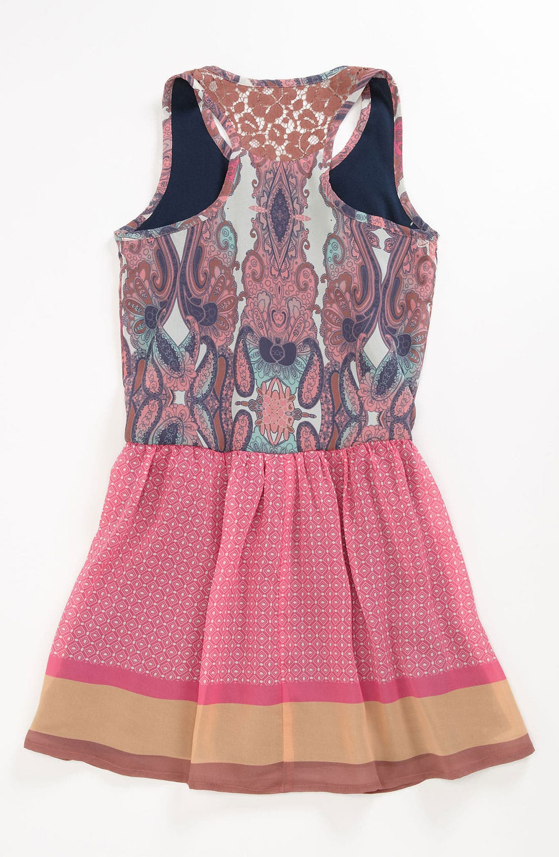 Alternate Image 2  - Fire Paisley Dress (Big Girls)