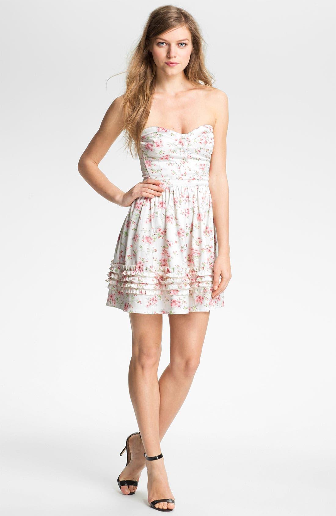 Main Image - Man Repeller X PJK 'Aurora' Print Cotton Blend Fit & Flare Dress