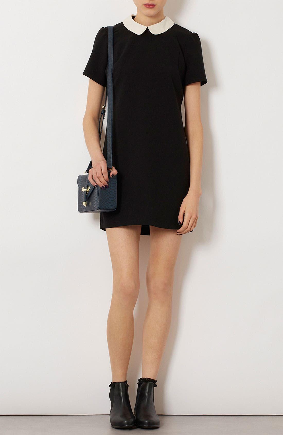 Alternate Image 2  - Topshop Contrast Collar Shift Dress