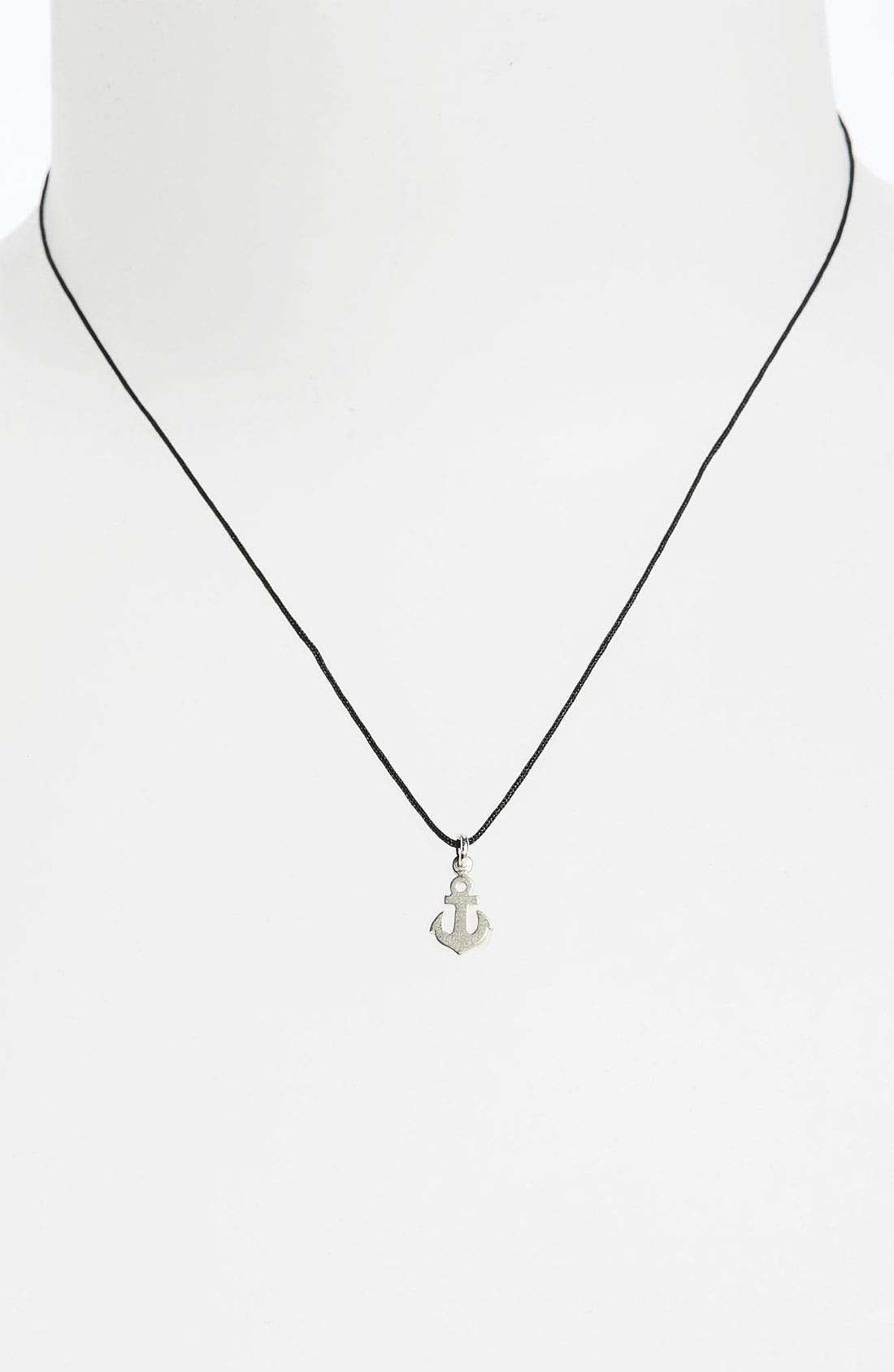 Alternate Image 2  - Dogeared 'Wish' Anchor Charm Necklace