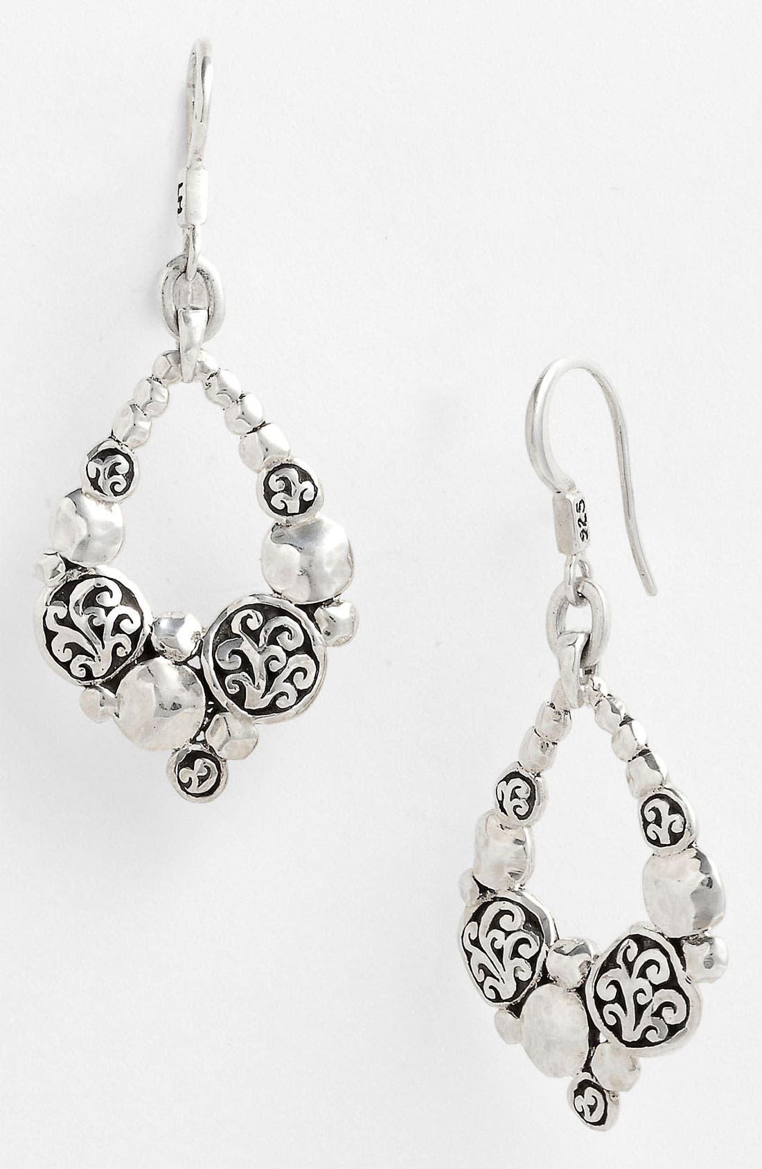 Main Image - Lois Hill 'Classy Cutout Waves' Open Teardrop Earrings
