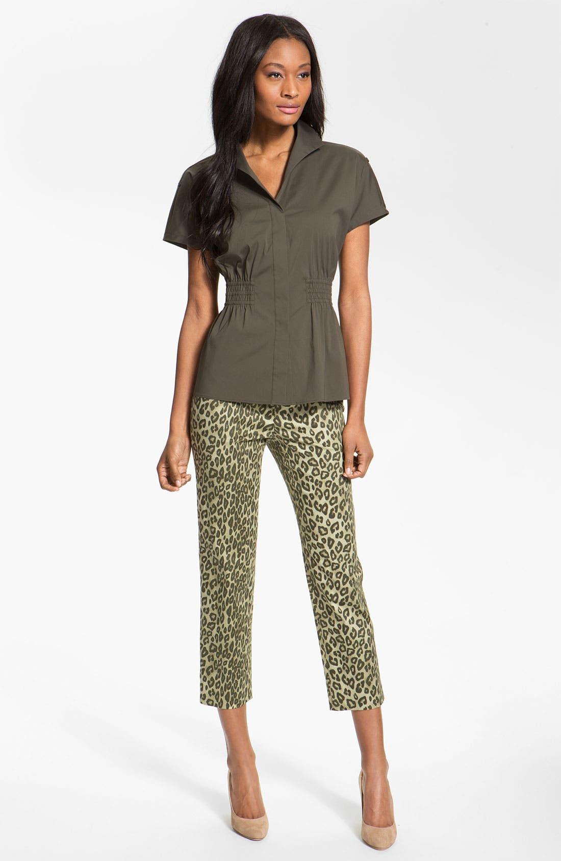 Alternate Image 4  - Lafayette 148 New York 'Bleecker - Senegal Cheetah' Crop Pants