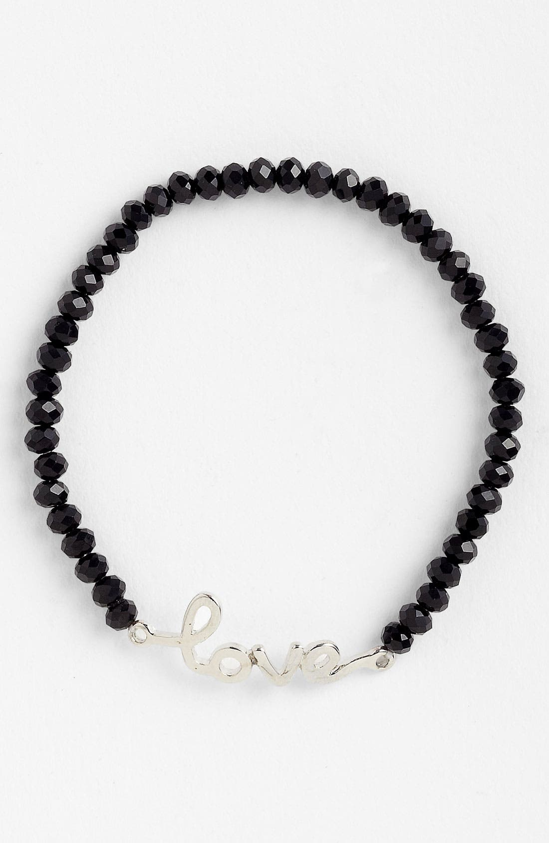 Alternate Image 1 Selected - Guinevere 'Love' Script Bracelet