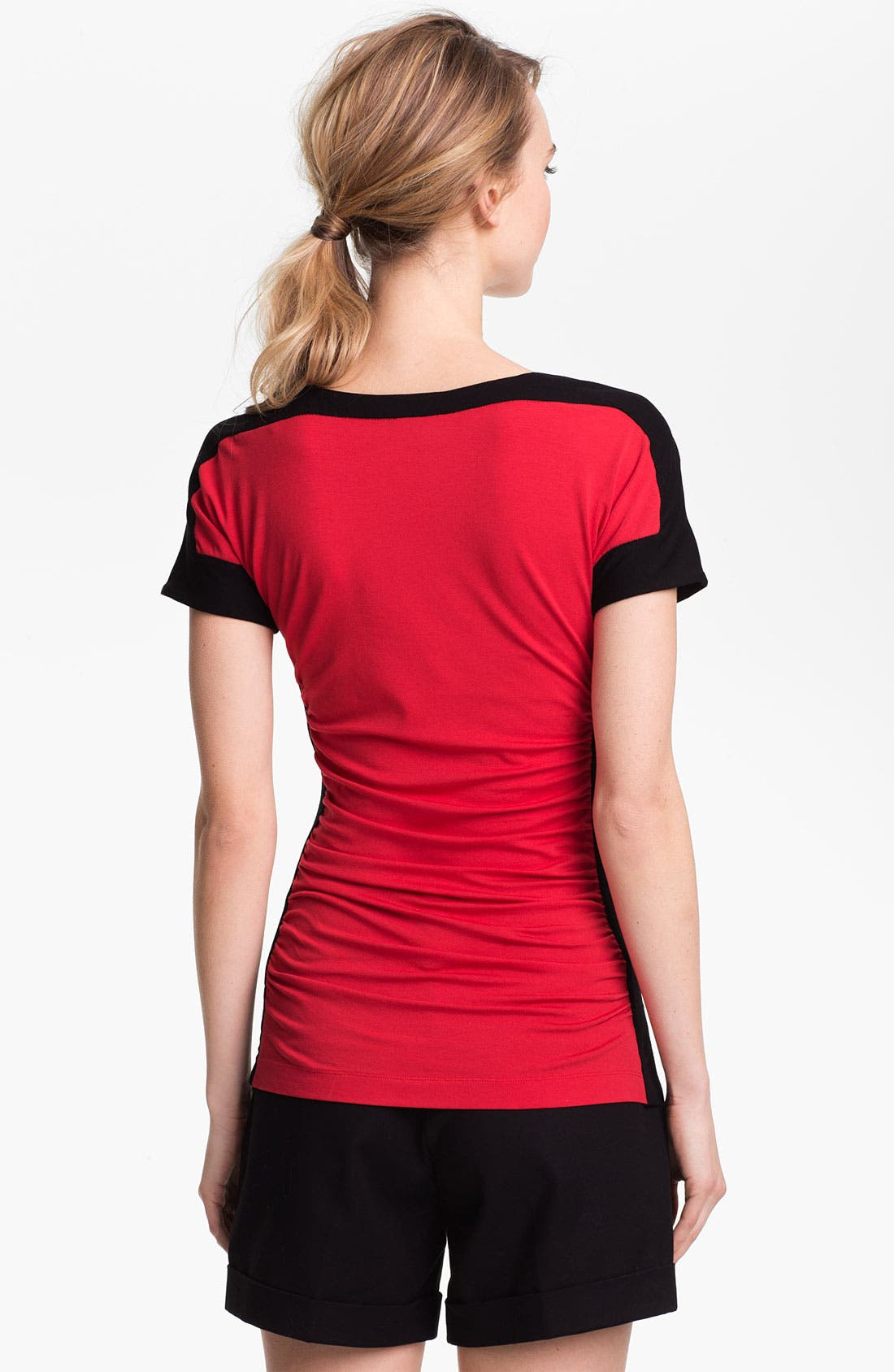 Alternate Image 2  - Vince Camuto Ruched Colorblock Tee