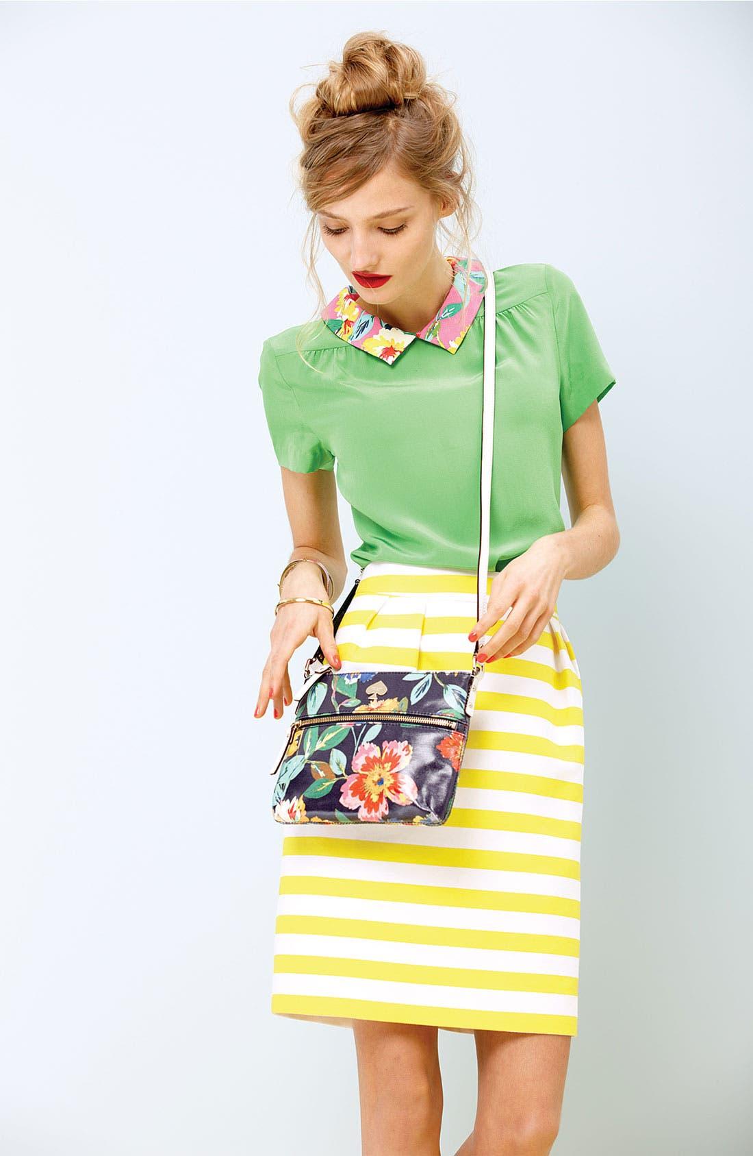 Alternate Image 5  - kate spade new york 'barry' silk blend skirt