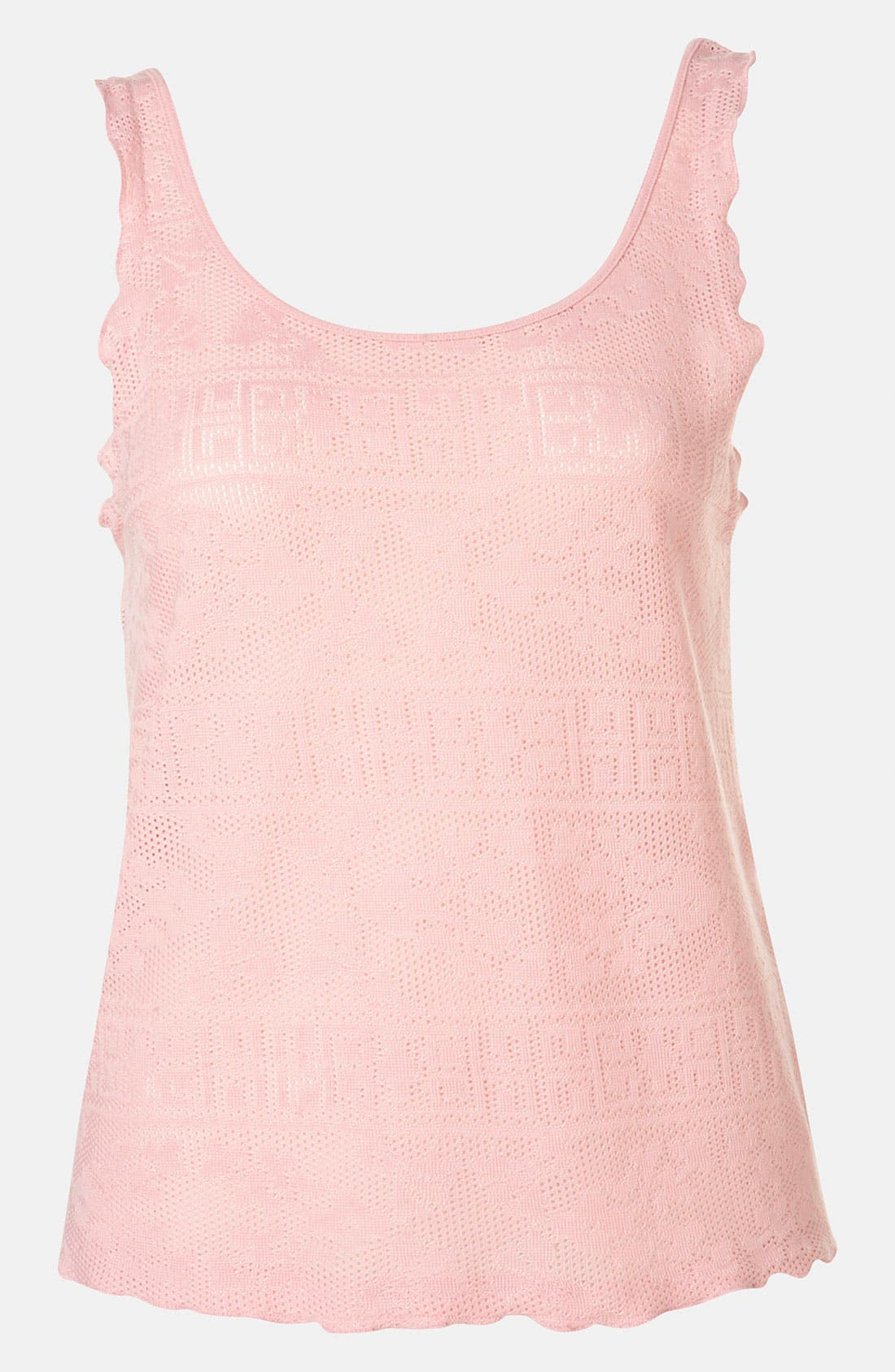 Alternate Image 1 Selected - Topshop Doily Lace Tank