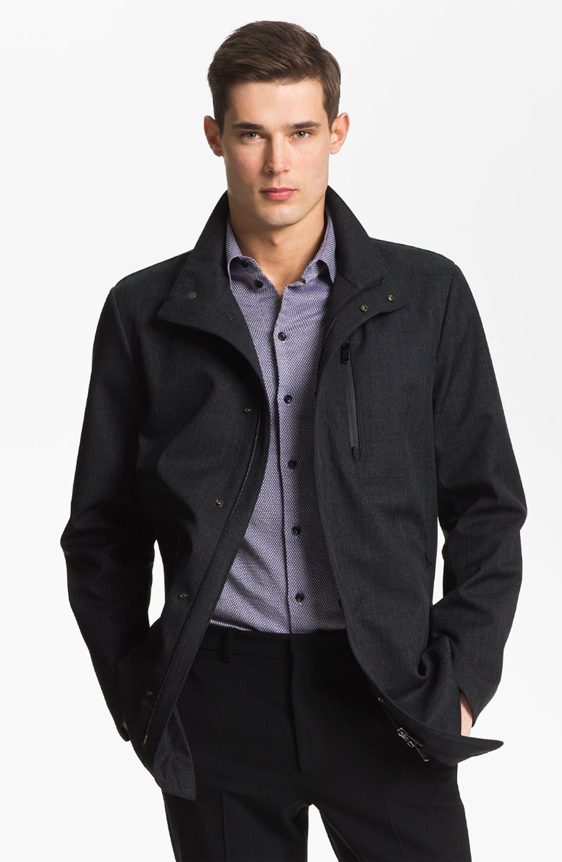 Main Image - Armani Collezioni Microfiber Jacket