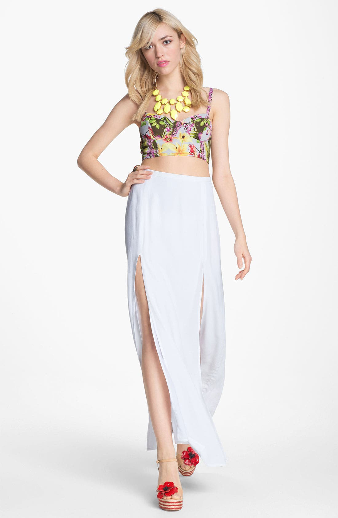 Alternate Image 2  - BB Dakota Slit Maxi Skirt