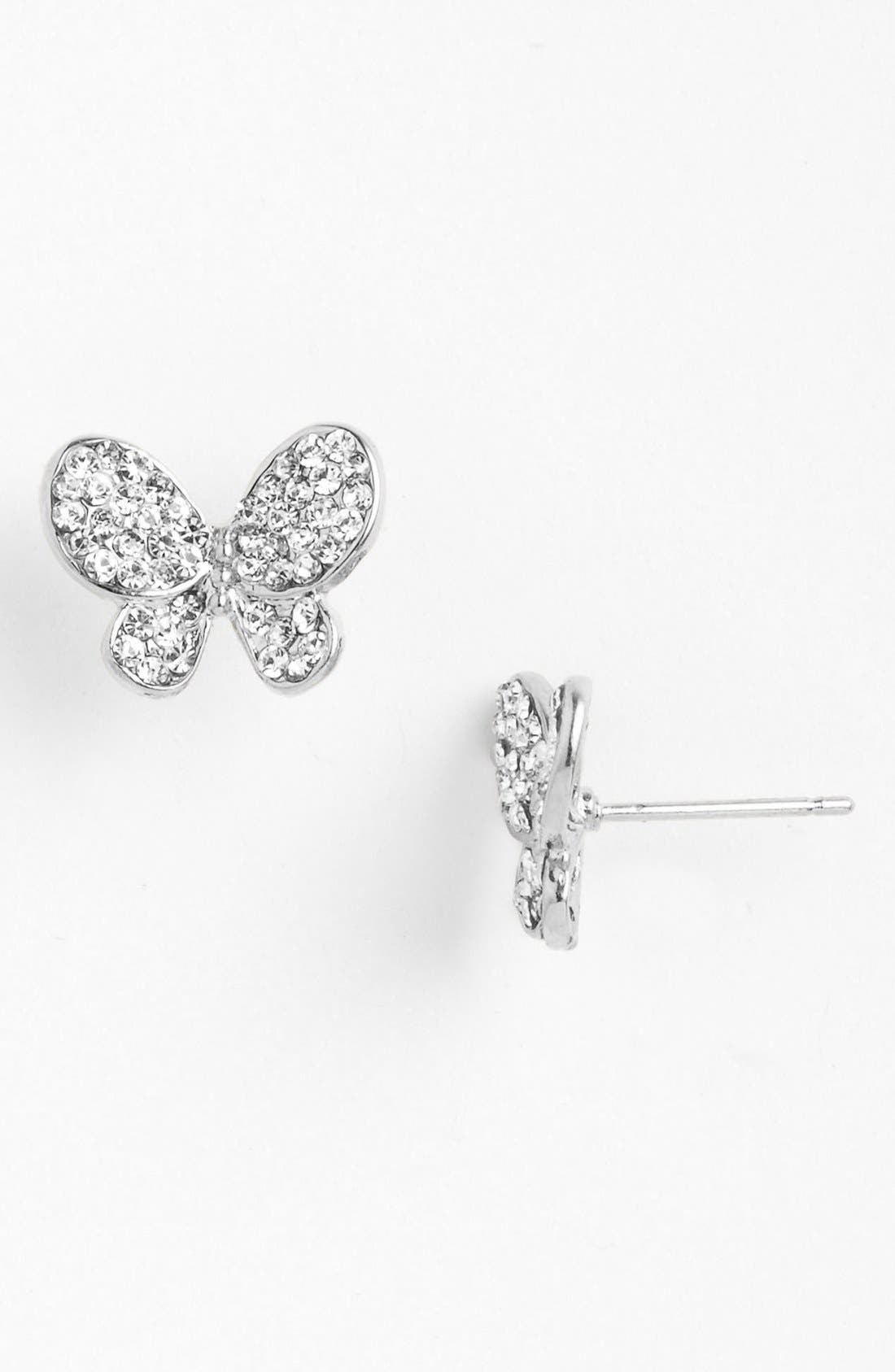 Alternate Image 1 Selected - Cara Butterfly Stud Earrings