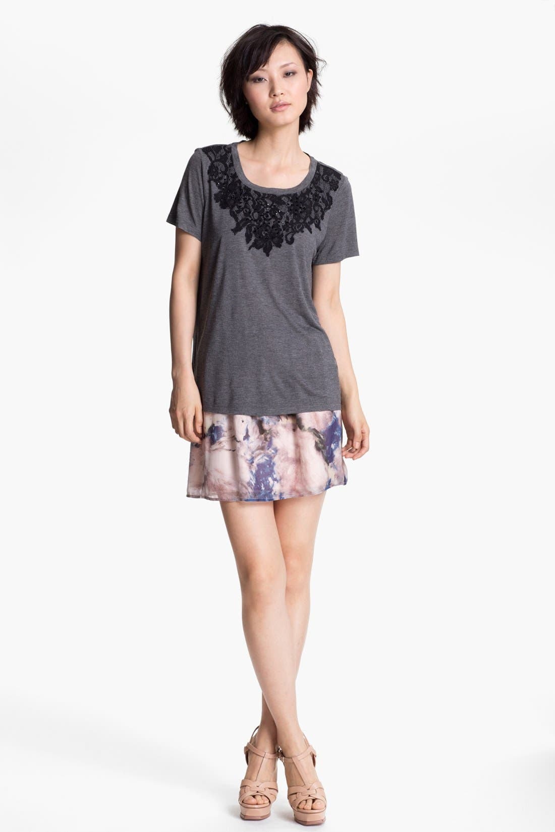 Alternate Image 3  - Haute Hippie Floral Print Silk Skirt