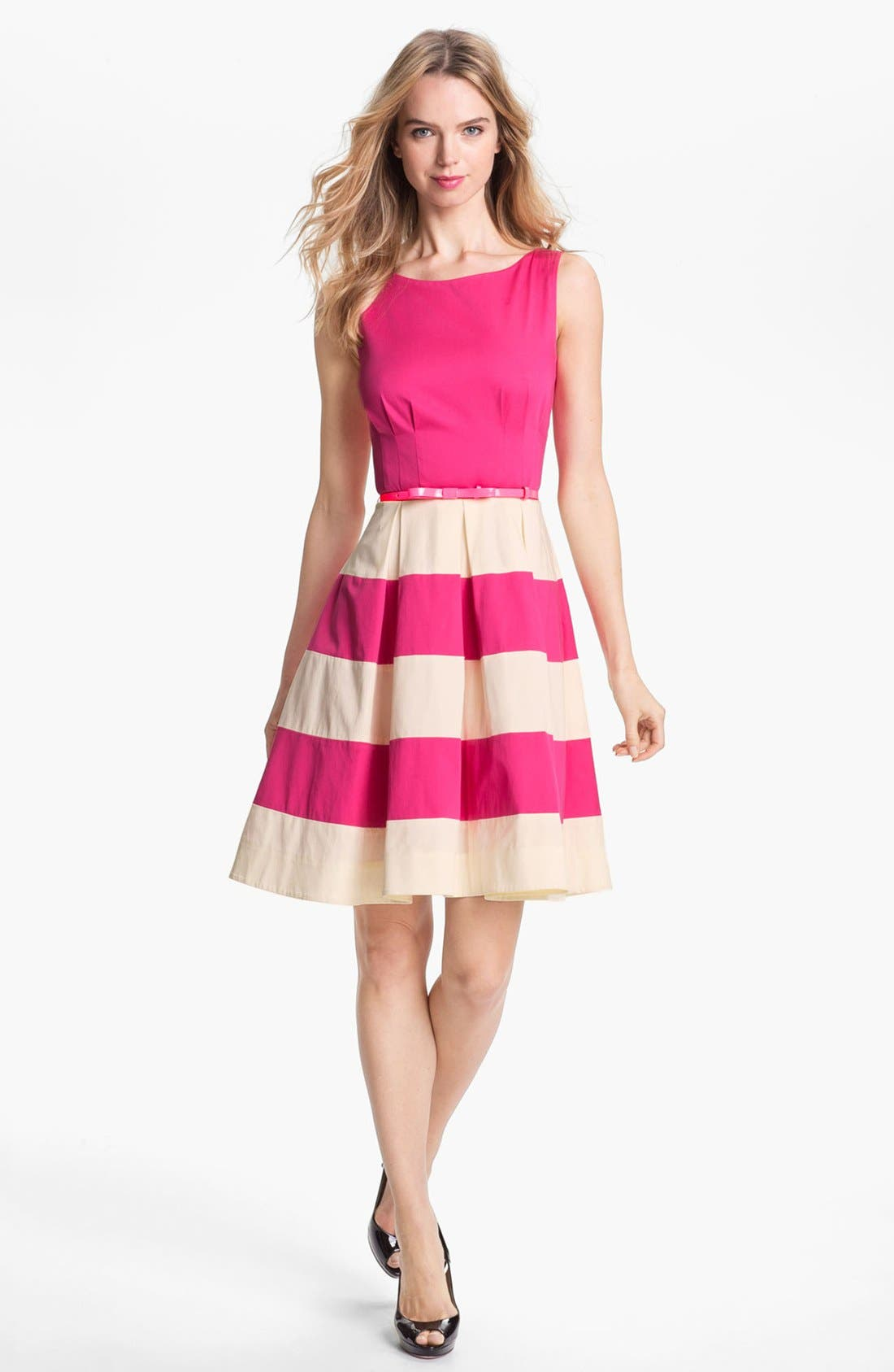 Main Image - kate spade new york 'celina' stretch cotton fit & flare dress