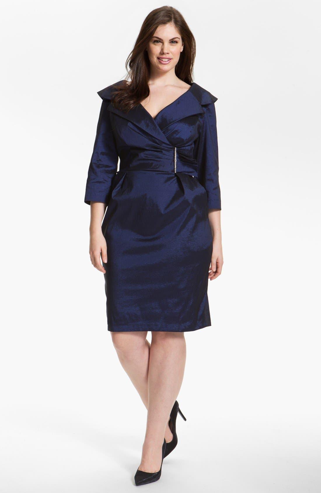 Main Image - Alex Evenings Embellished Sheath Dress (Plus Size)