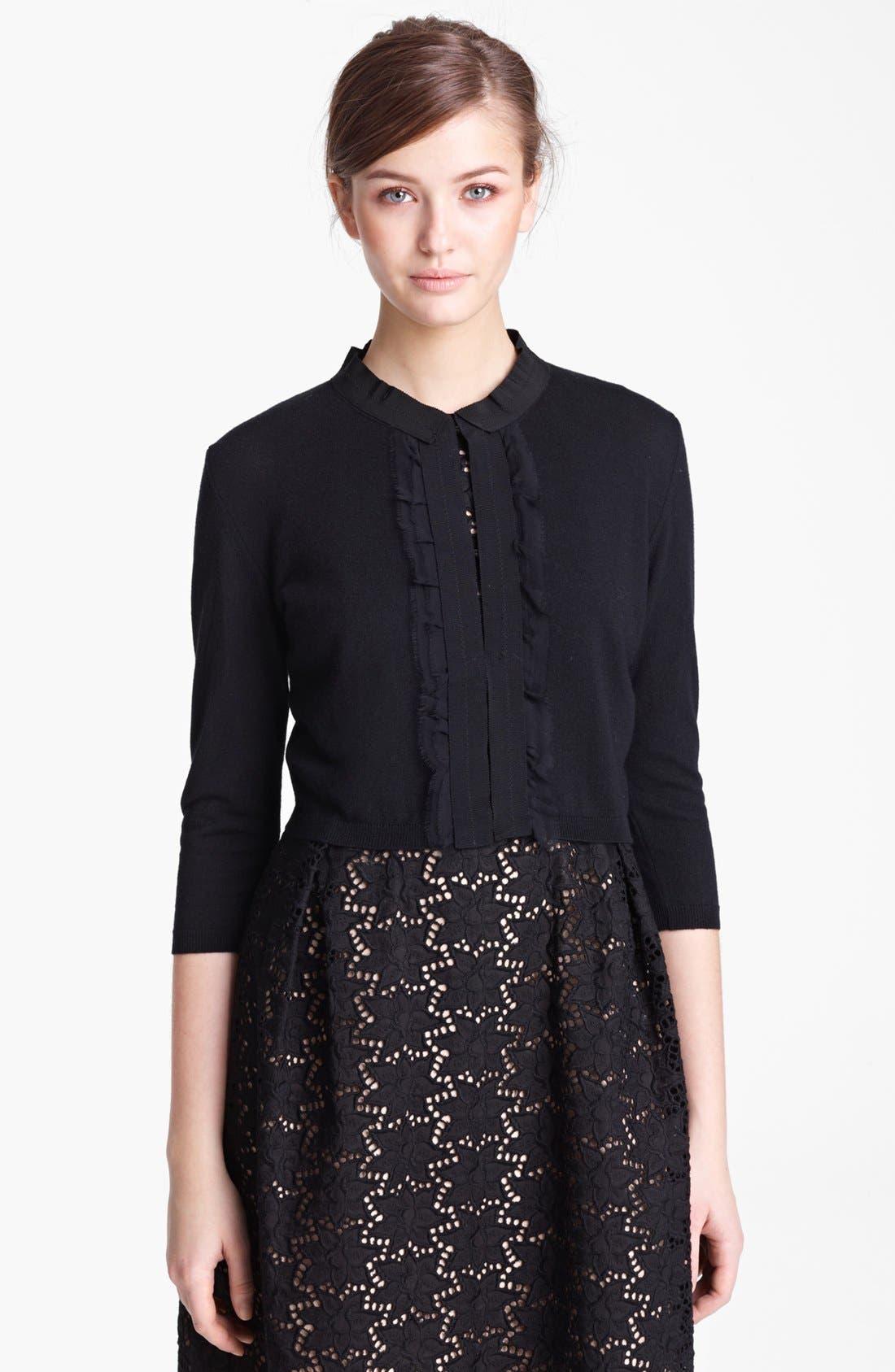 Alternate Image 1 Selected - Max Mara 'Oreste' Crop Cashmere & Silk Cardigan