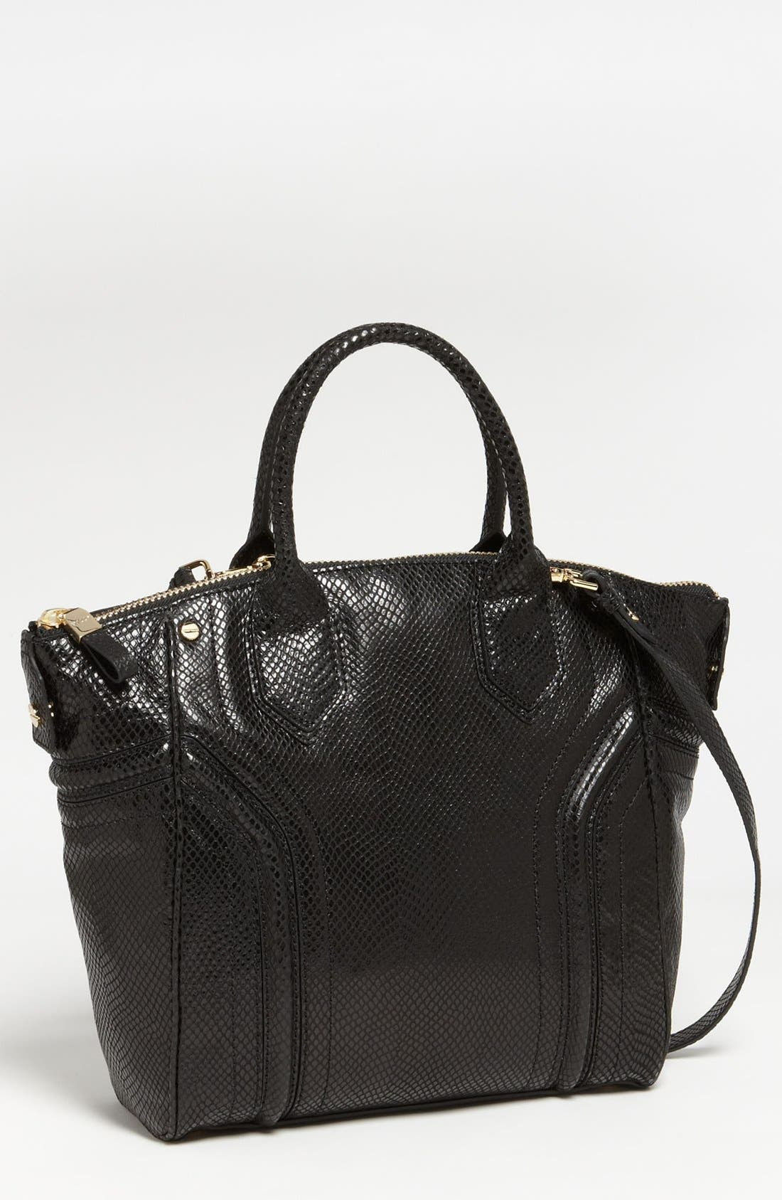 Alternate Image 1 Selected - Milly 'Zoey' Snake Embossed Leather Tote