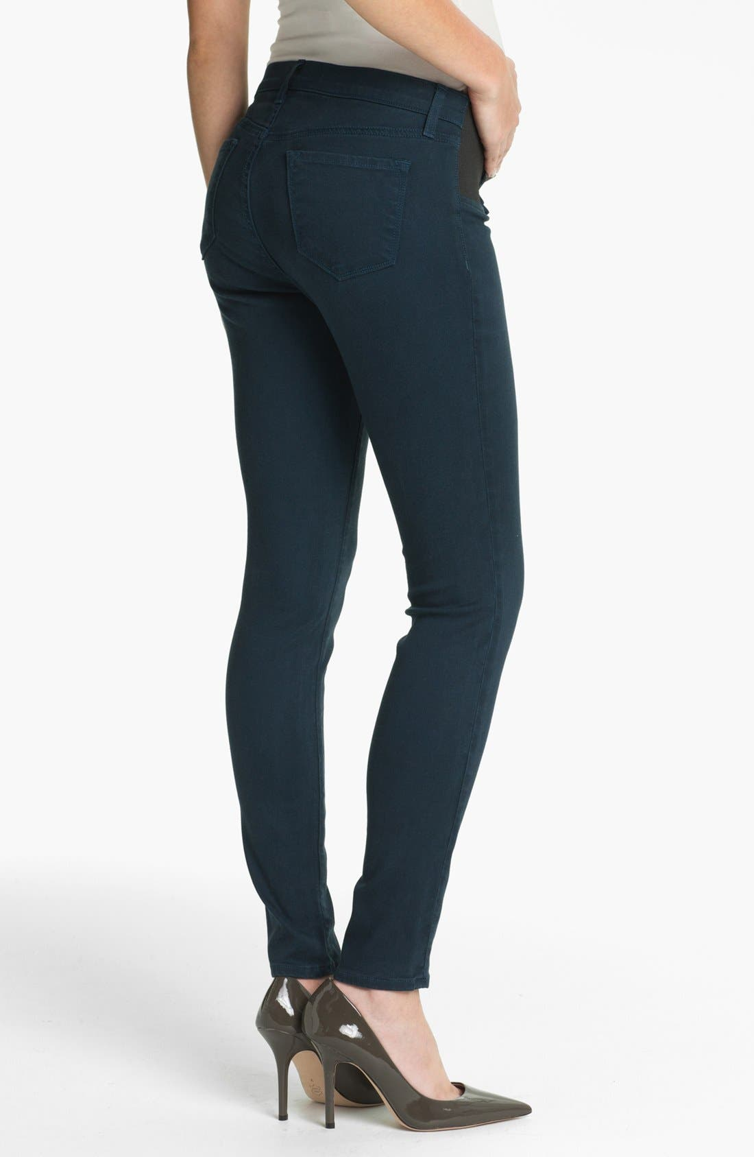 Alternate Image 2  - J Brand Denim Maternity Leggings (Nirvana Blue)