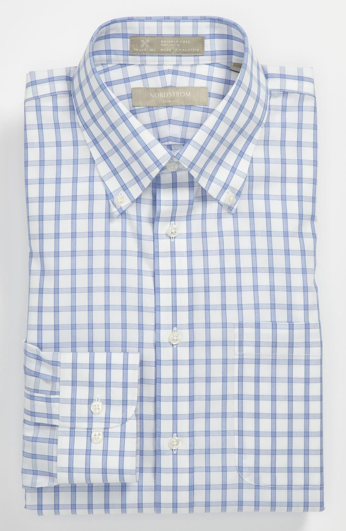 Main Image - Nordstrom Smartcare™ Wrinkle Free Trim Fit Check Dress Shirt