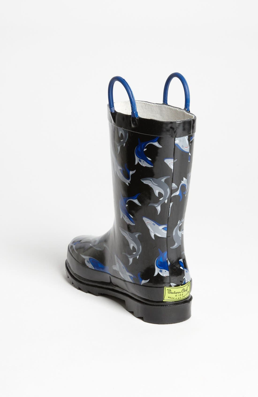 Alternate Image 2  - Western Chief 'Shark City' Rain Boot (Toddler & Little Kid)