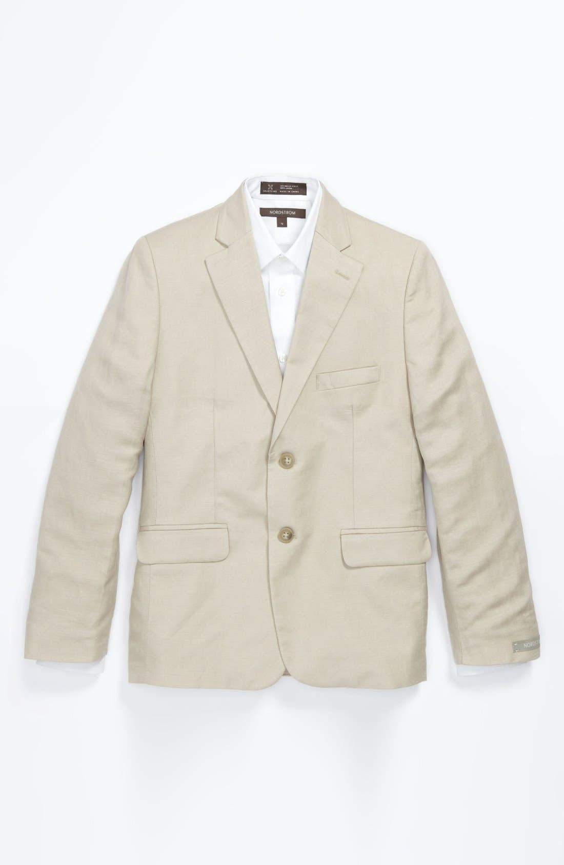 Main Image - Nordstrom 'Christopher' Linen Blend Blazer (Big Boys)