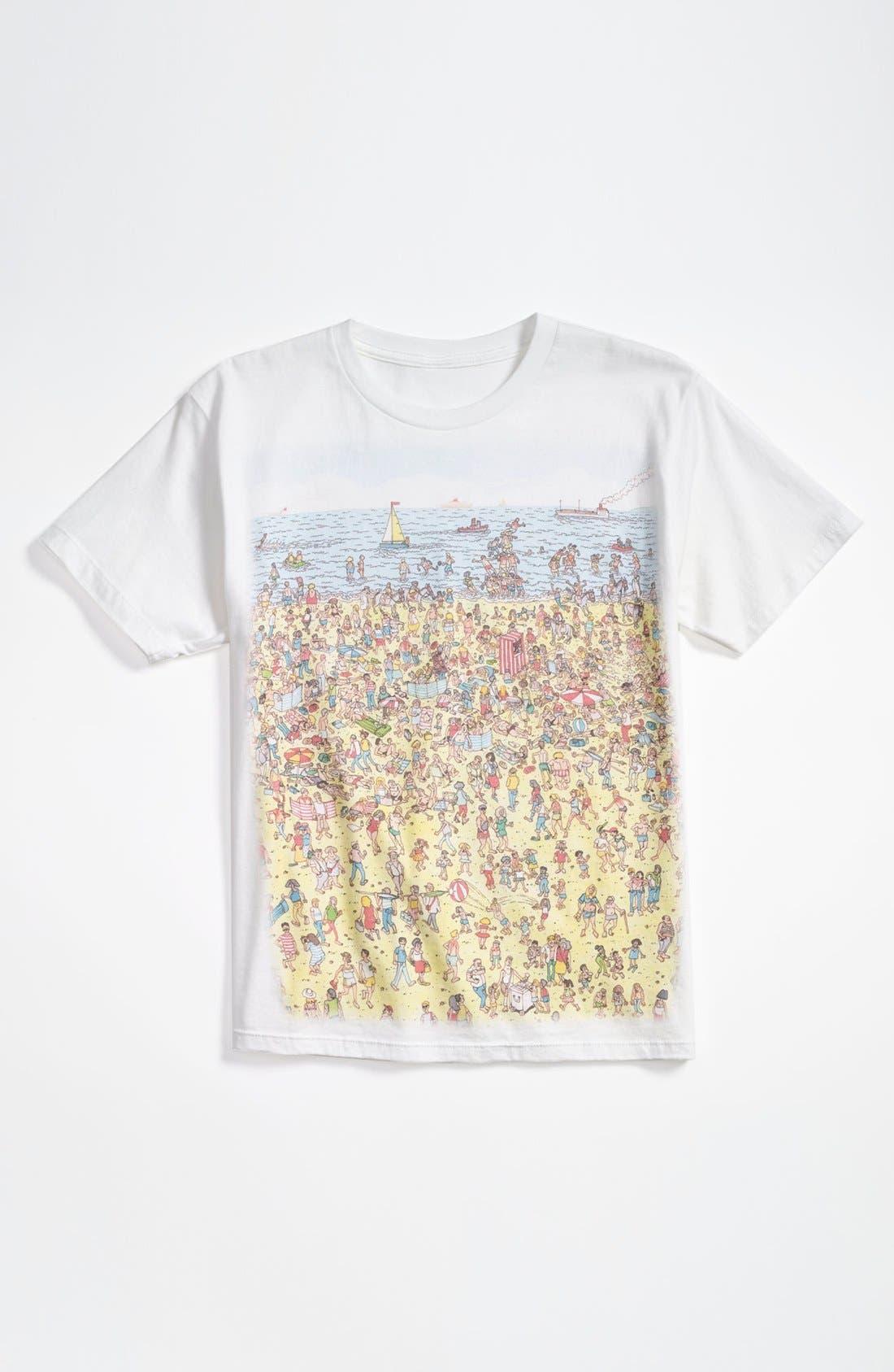 'Waldo<sup>®</sup> Beach' T-Shirt,                             Main thumbnail 1, color,                             White