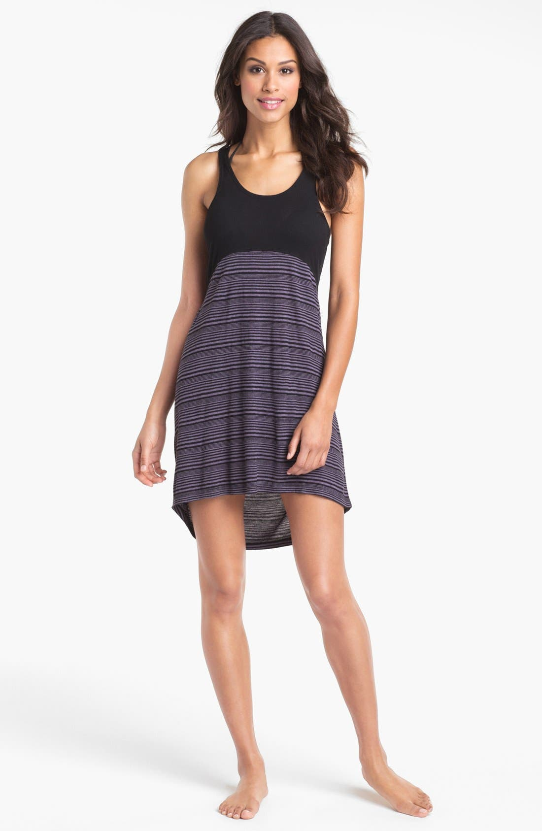 Colorblock Cover-Up Dress,                             Main thumbnail 1, color,                             Black Stripe