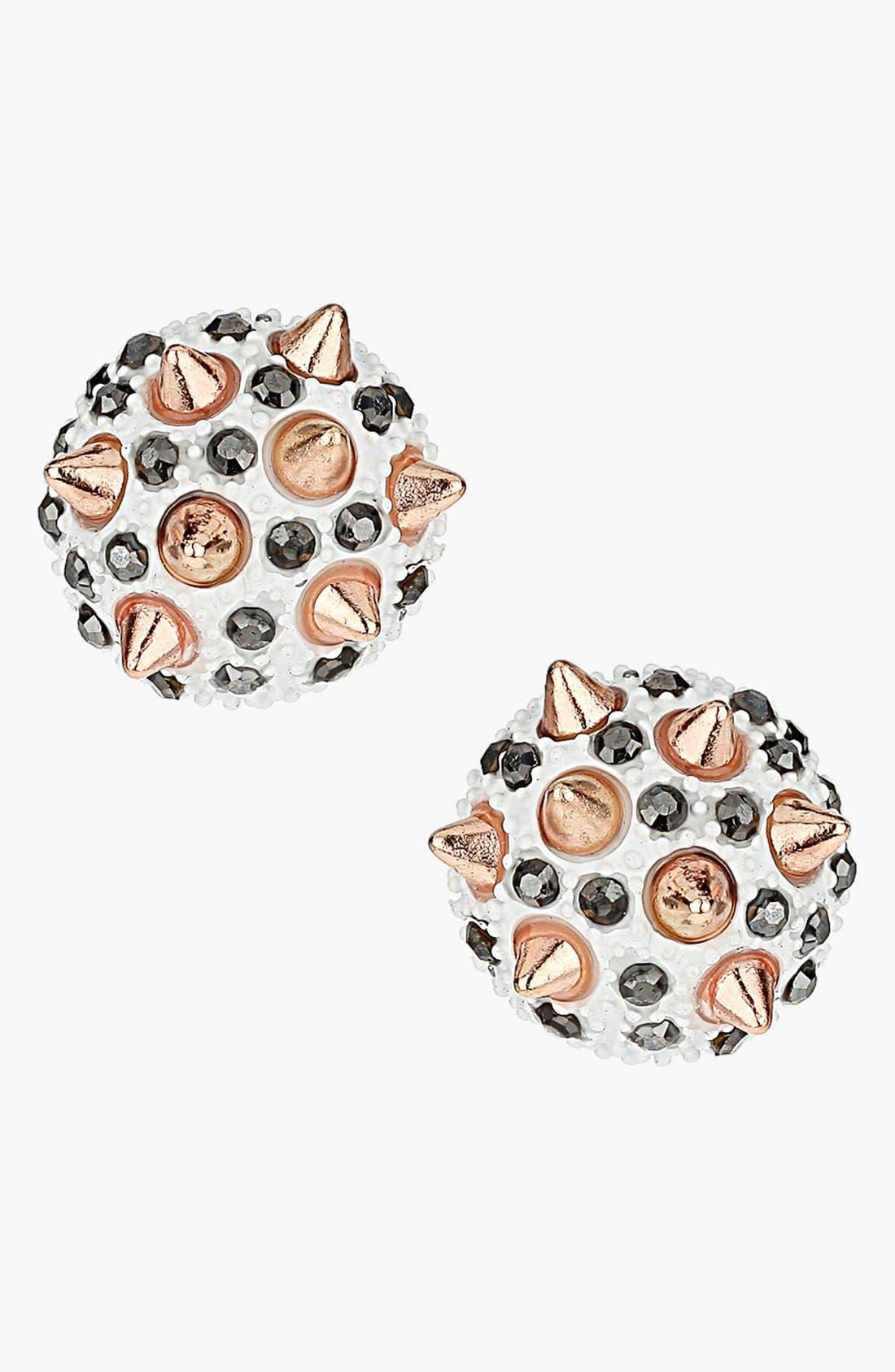 Alternate Image 1 Selected - Topshop 'Spike Stone' Stud Earrings