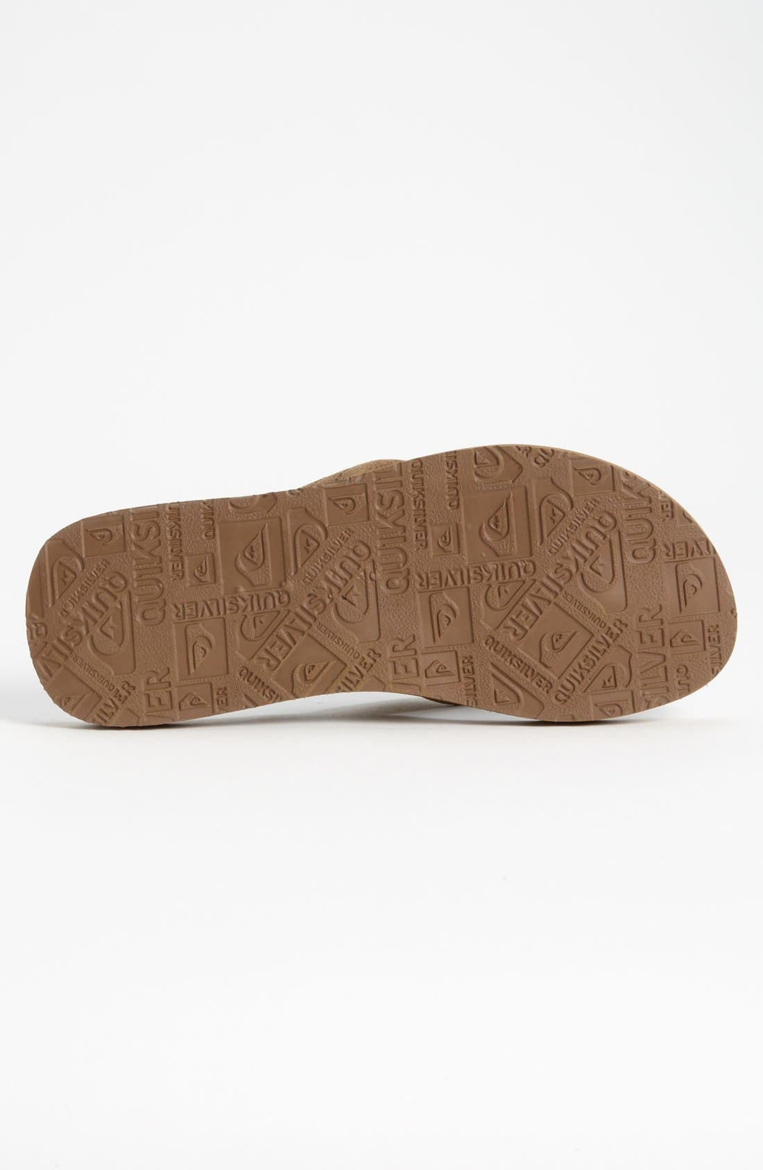 Alternate Image 4  - Quiksilver 'Carver 2' Flip Flop (Men)