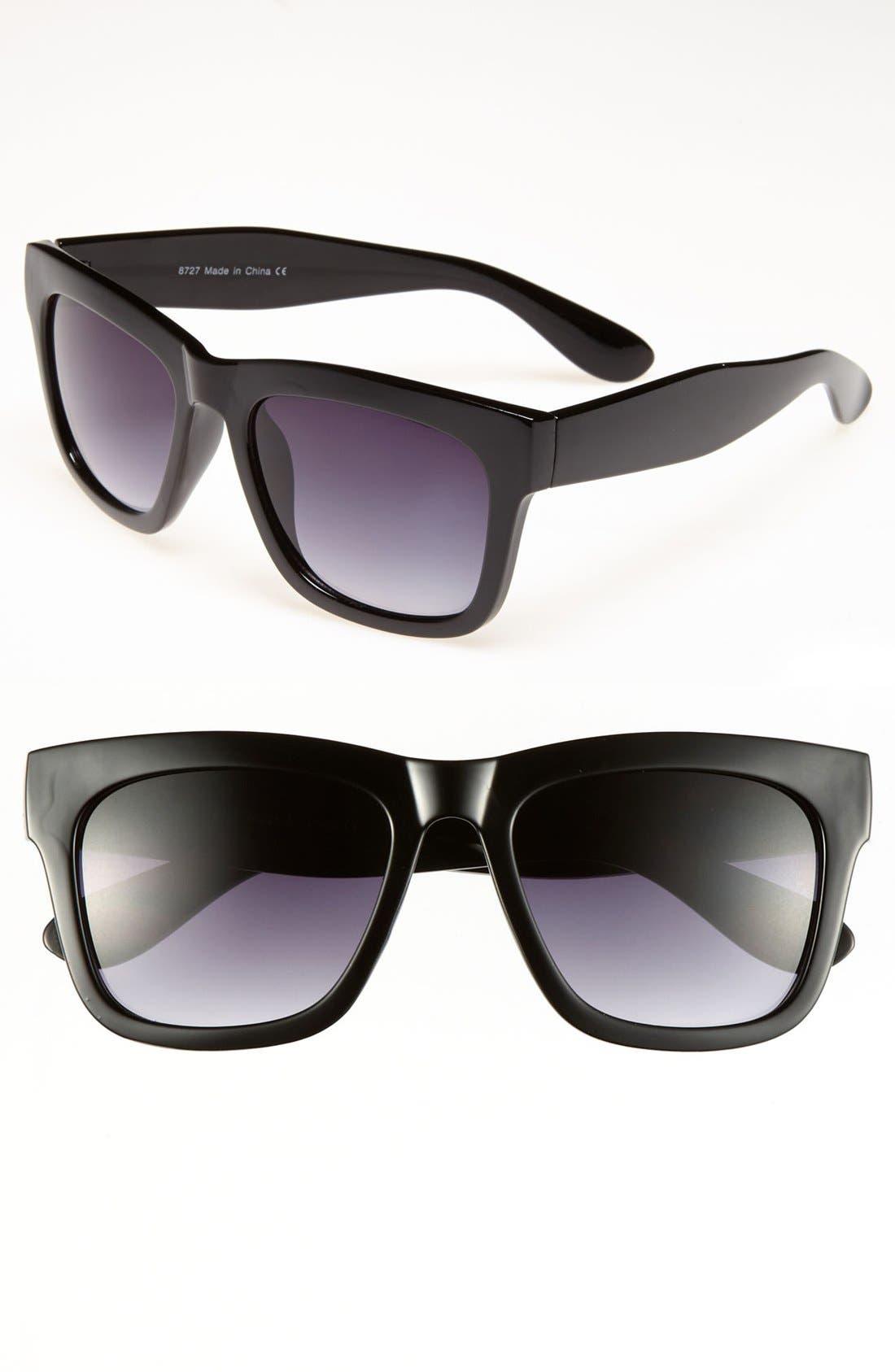 Alternate Image 1 Selected - KW Retro Sunglasses (Juniors)