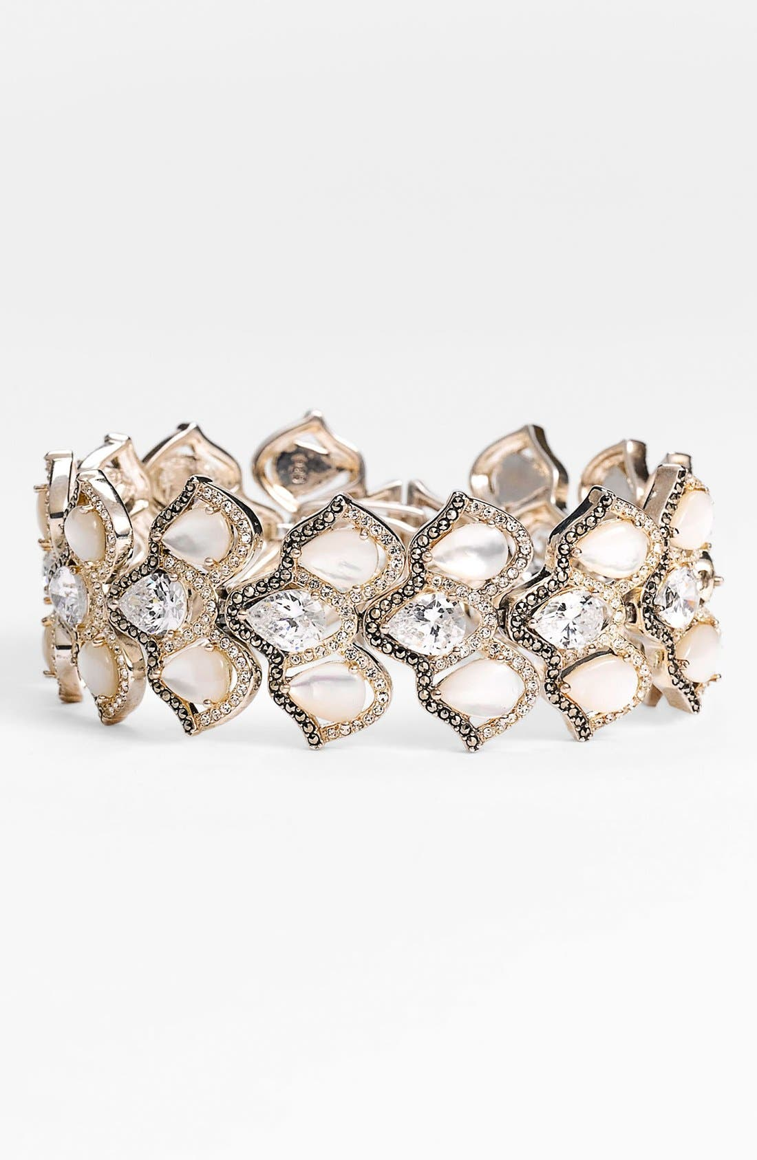 Alternate Image 1 Selected - Judith Jack 'Amore' Wide Line Bracelet