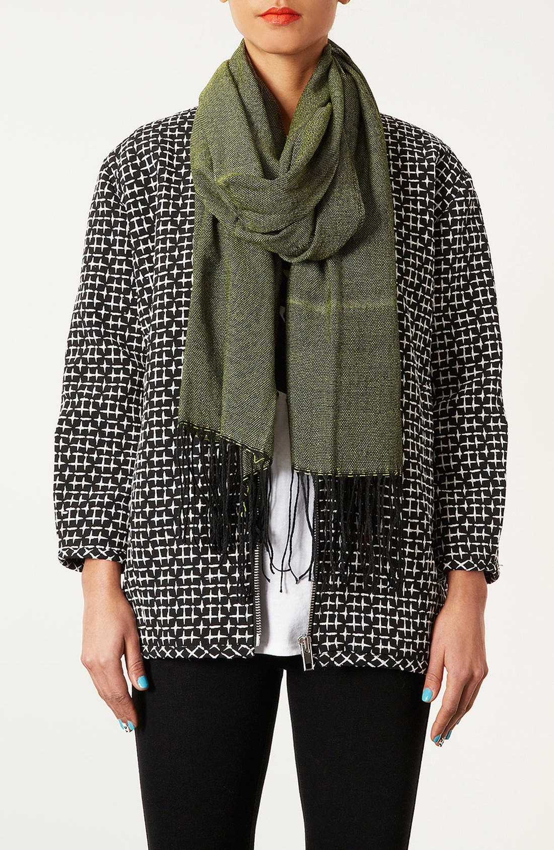 Alternate Image 2  - Topshop Two Tone Scarf