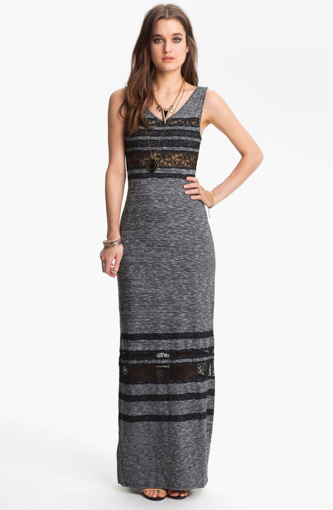 Main Image - Free People 'Hazy Day' Lace Stripe Maxi Dress