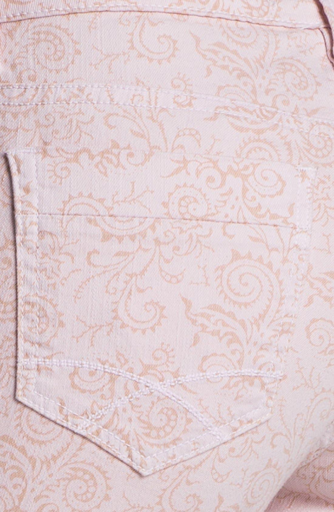 Alternate Image 3  - Christopher Blue 'Isabel' Print Skinny Ankle Jeans