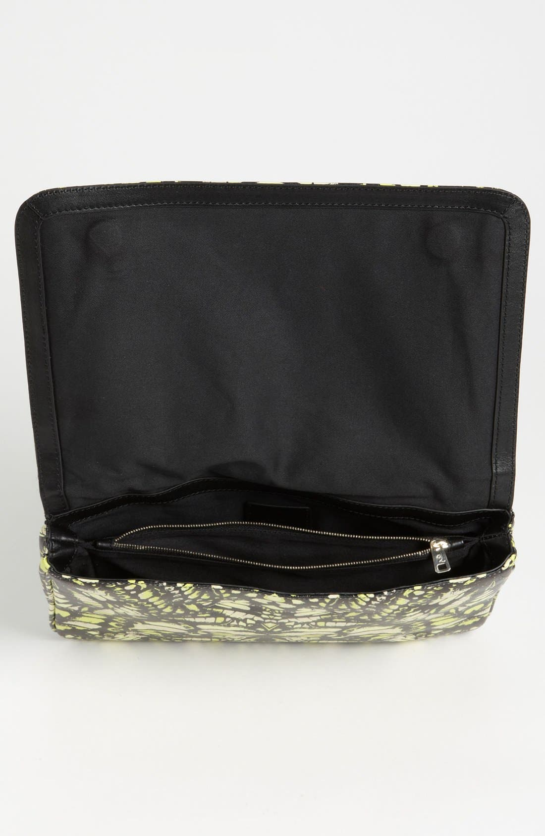Alternate Image 3  - McQ by Alexander McQueen 'Metal Plate' Print Leather Clutch