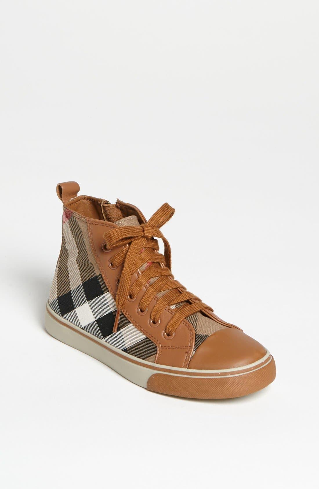 Main Image - Burberry 'Tom' High Top Sneaker (Walker, Toddler, Little Kid & Big Kid)