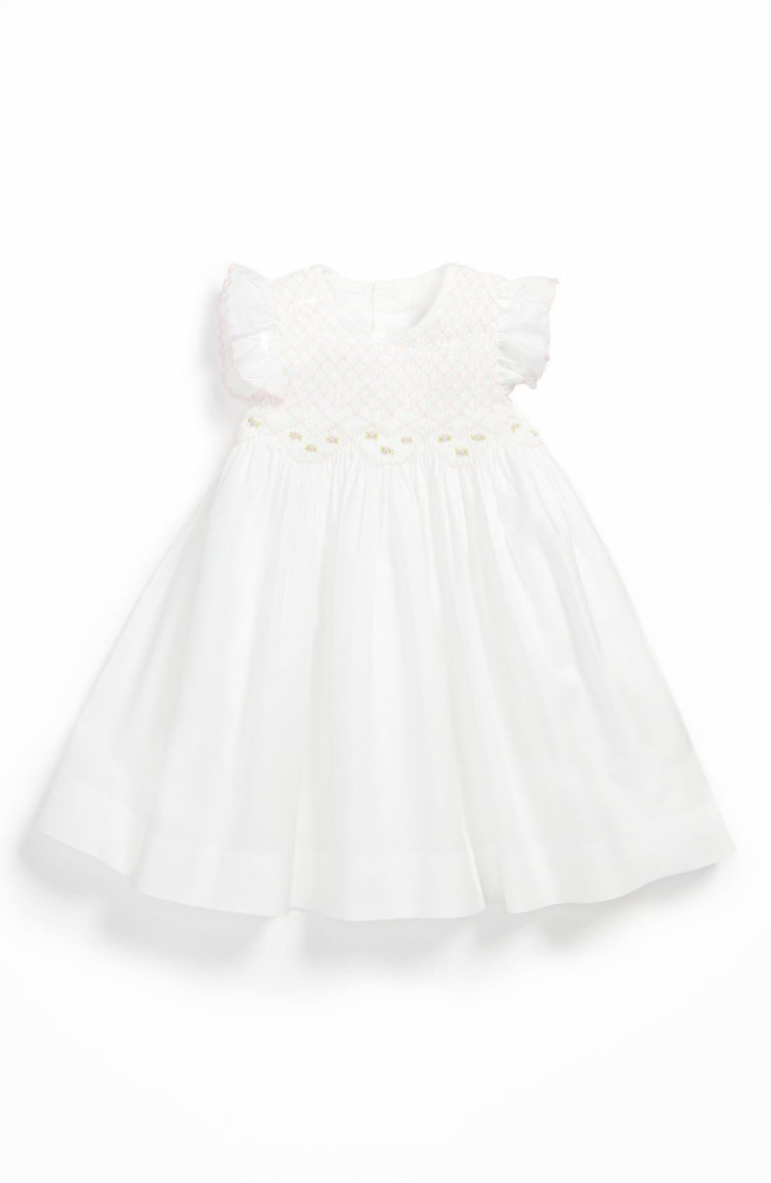 'Brianna' Dress,                         Main,                         color, White/ Pink
